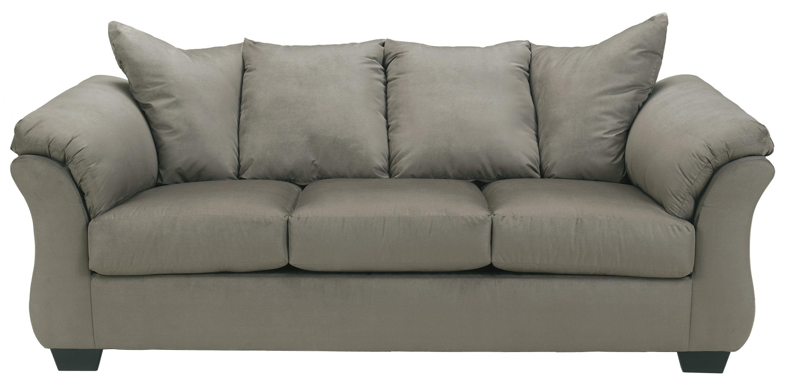 Darcy - Cobblestone Stationary Sofa by Signature Design by Ashley at Northeast Factory Direct