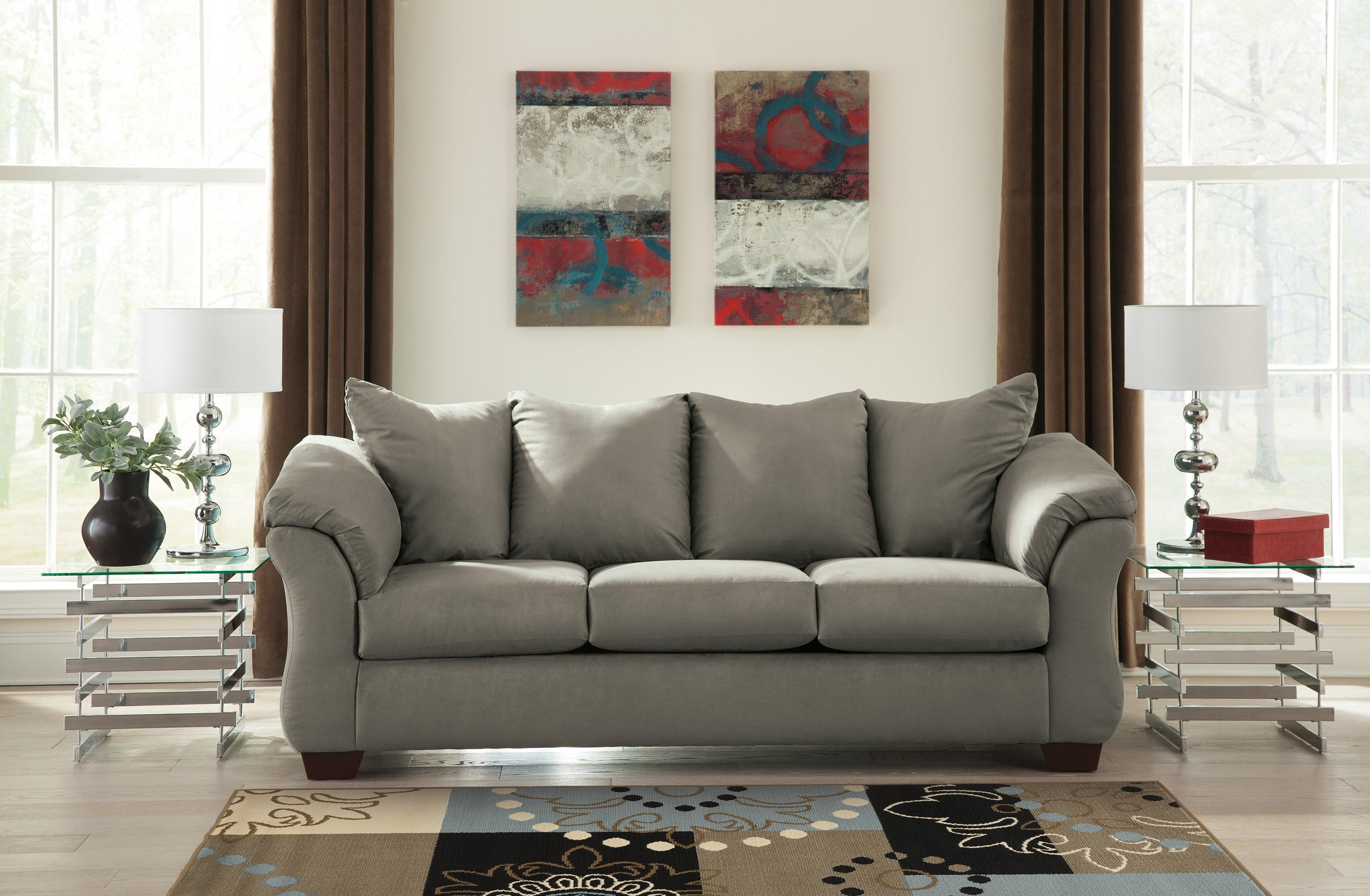 Darcy - Cobblestone Sofa, Chair and Ottoman Set by Signature Design by Ashley at Sam Levitz Furniture
