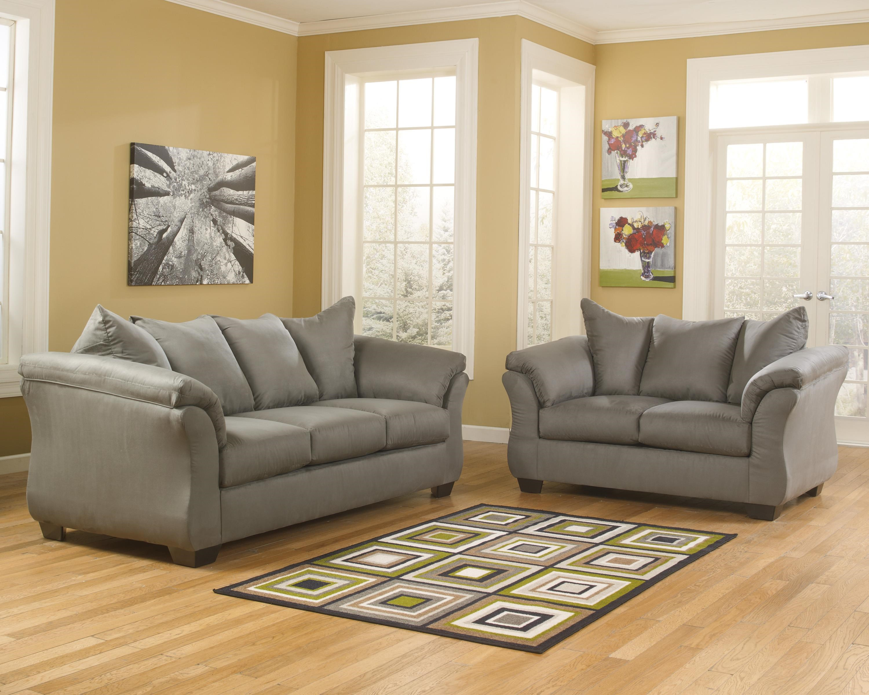 Darcy - Cobblestone Sofa, Loveseat and Chair Set by Signature Design by Ashley at Sam Levitz Furniture