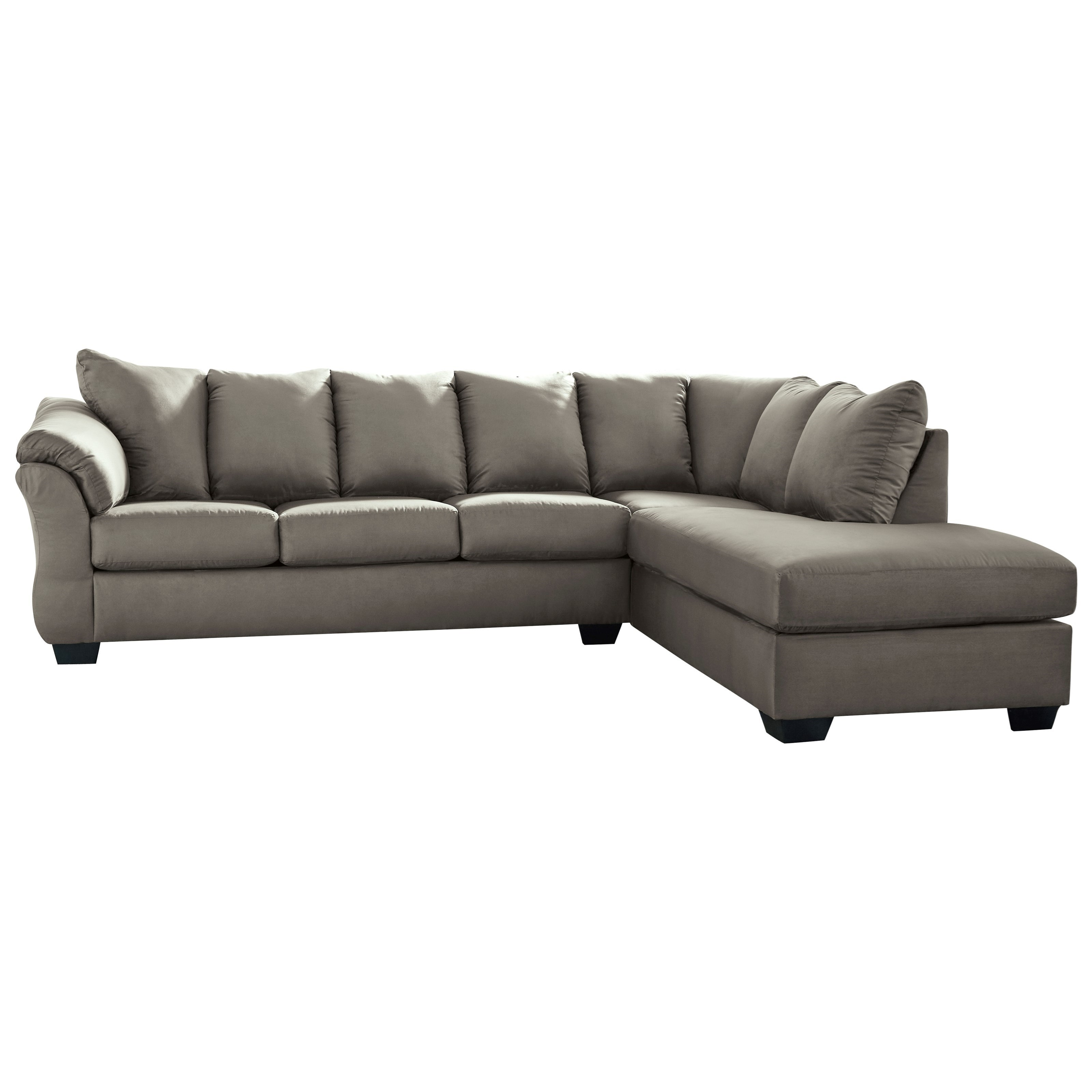 Darcy - Cobblestone 2-Piece Sectional Sofa by Signature Design by Ashley at Northeast Factory Direct