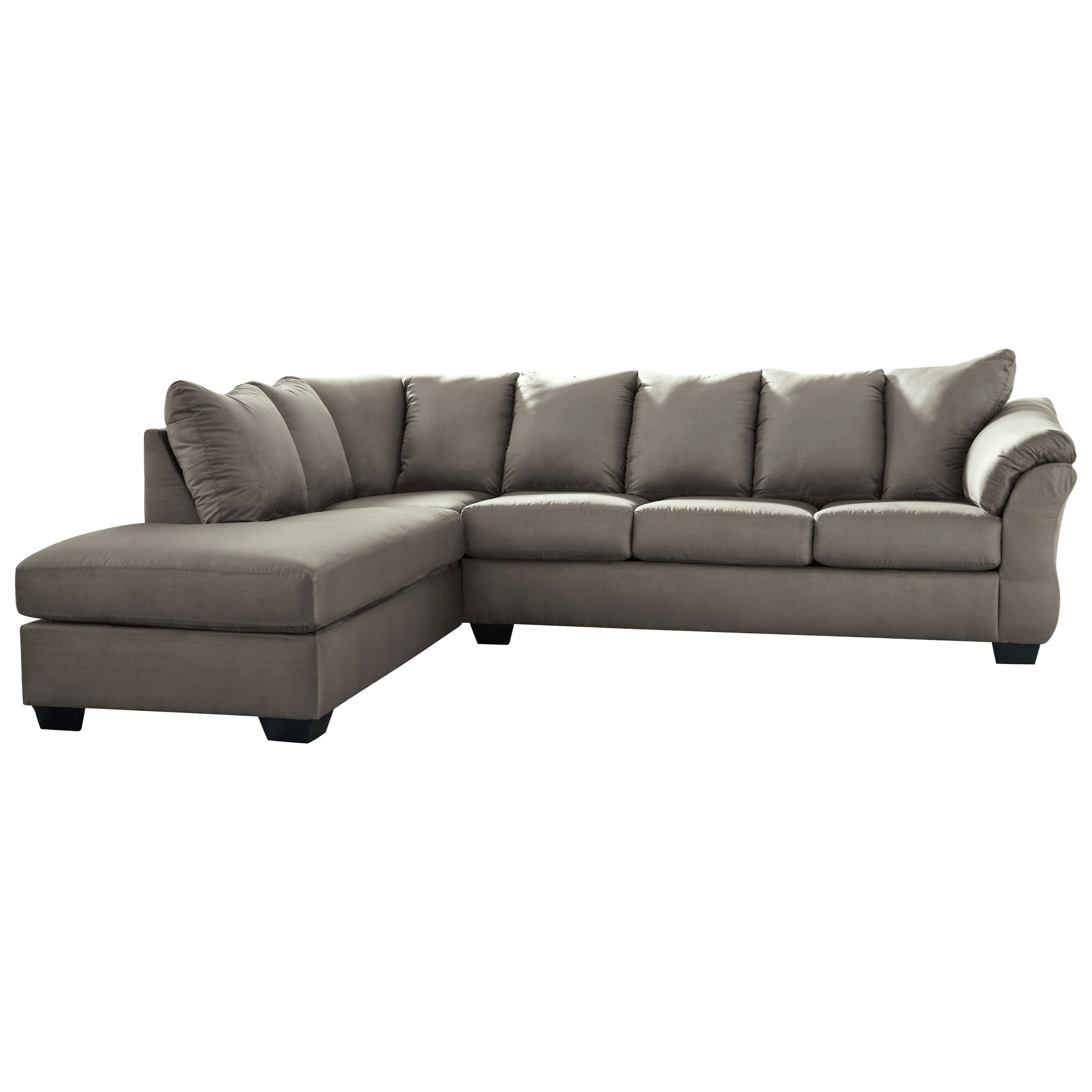 Darcy - Cobblestone 2-Piece Sectional Sofa with Chaise by Signature at Walker's Furniture