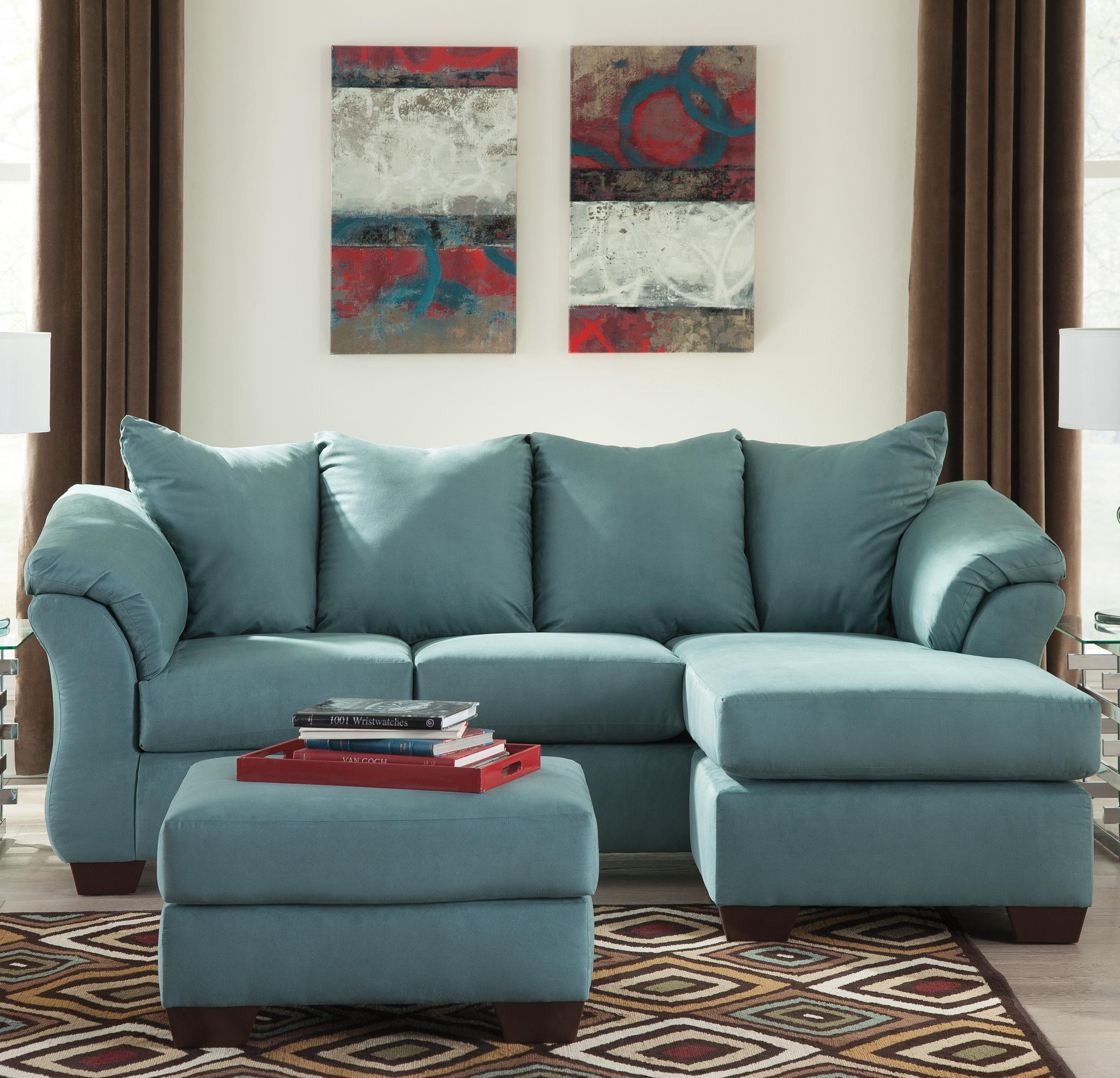Darcy - Sky Stationary Living Room Group by Signature Design by Ashley at Furniture Fair - North Carolina