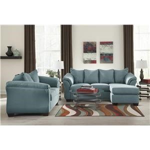 Chaise Sofa, Loveseat and Ottoman Set