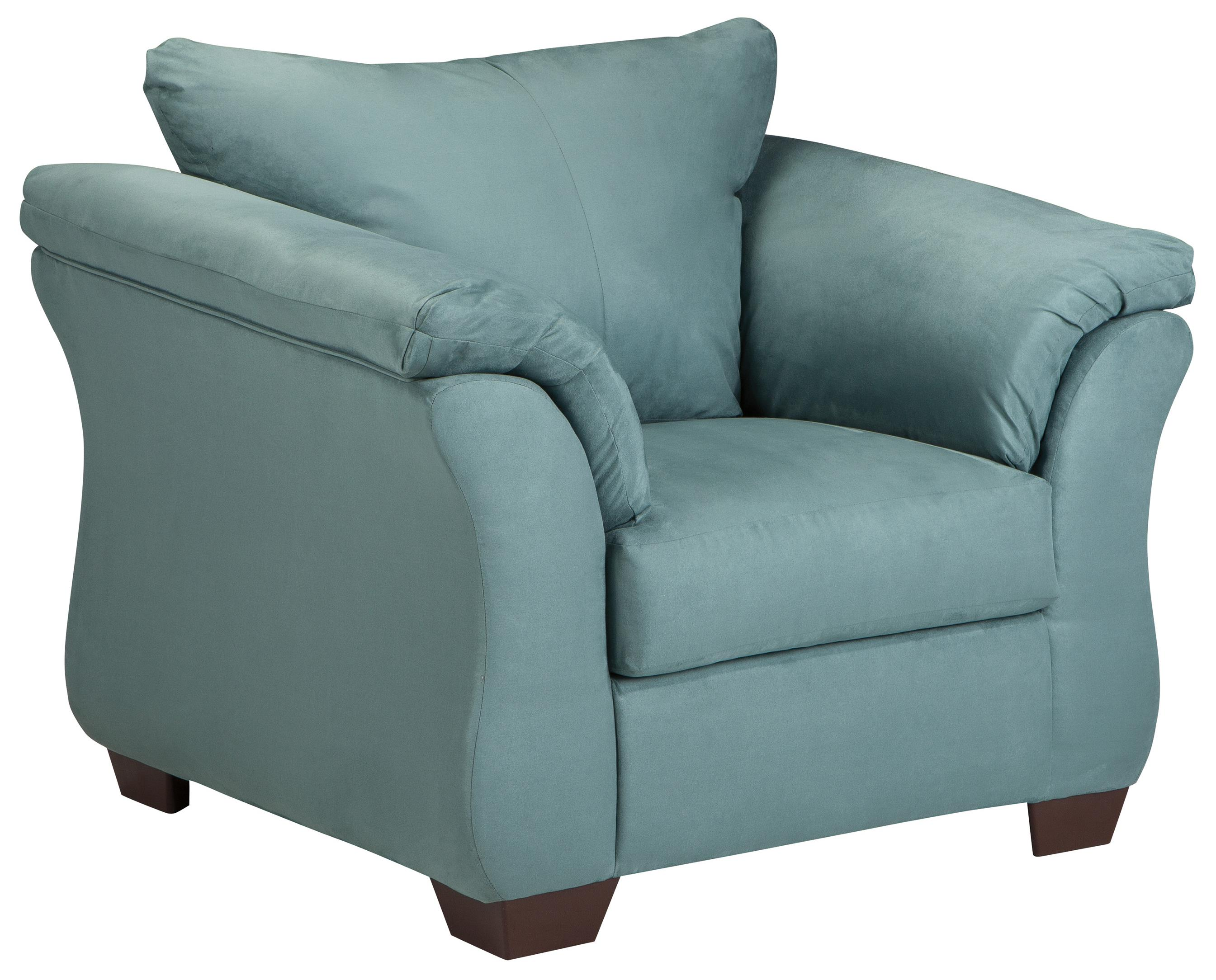 Darcy - Sky Upholstered Chair by Ashley (Signature Design) at Johnny Janosik