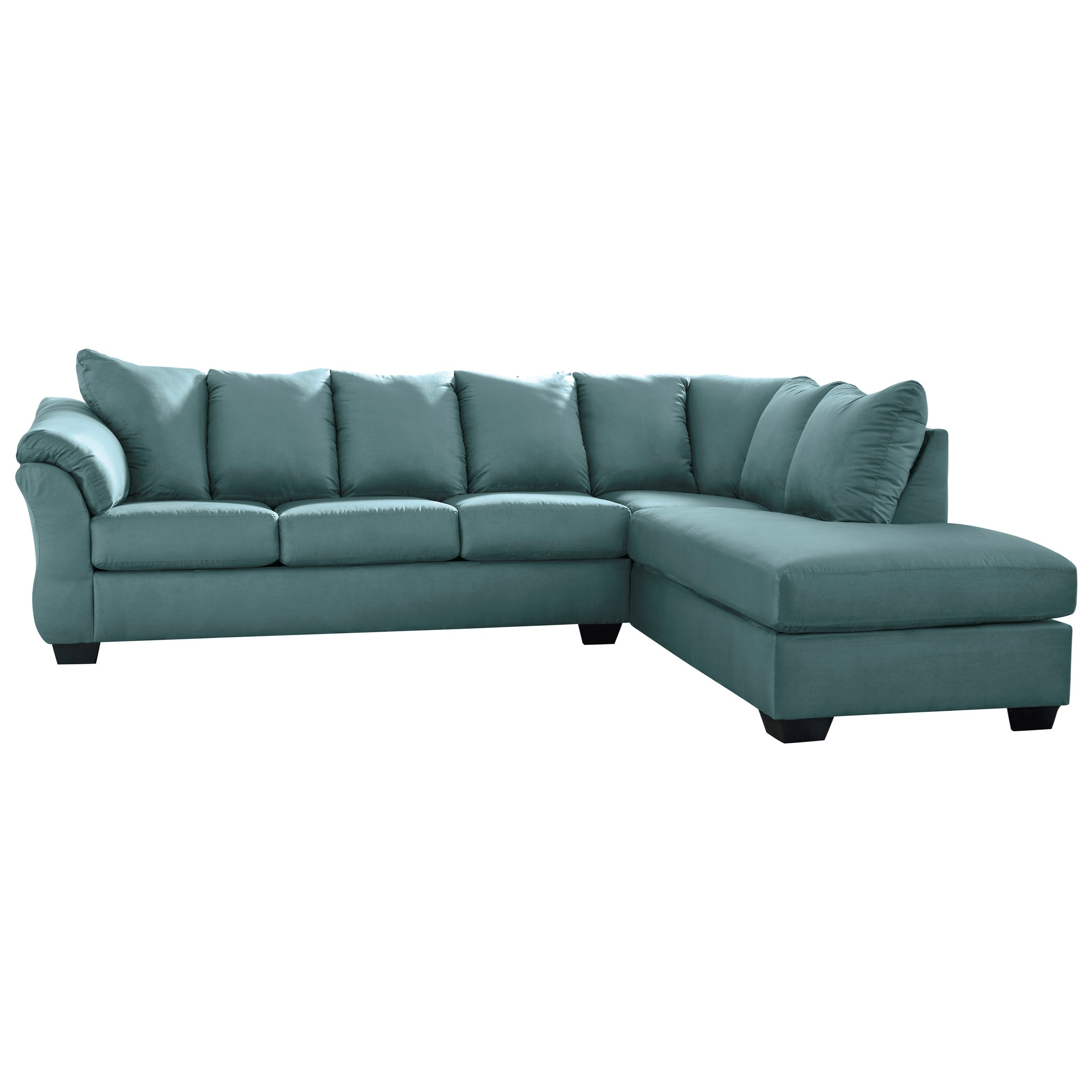 Darcy - Sky 2-Piece Sectional Sofa by Ashley (Signature Design) at Johnny Janosik