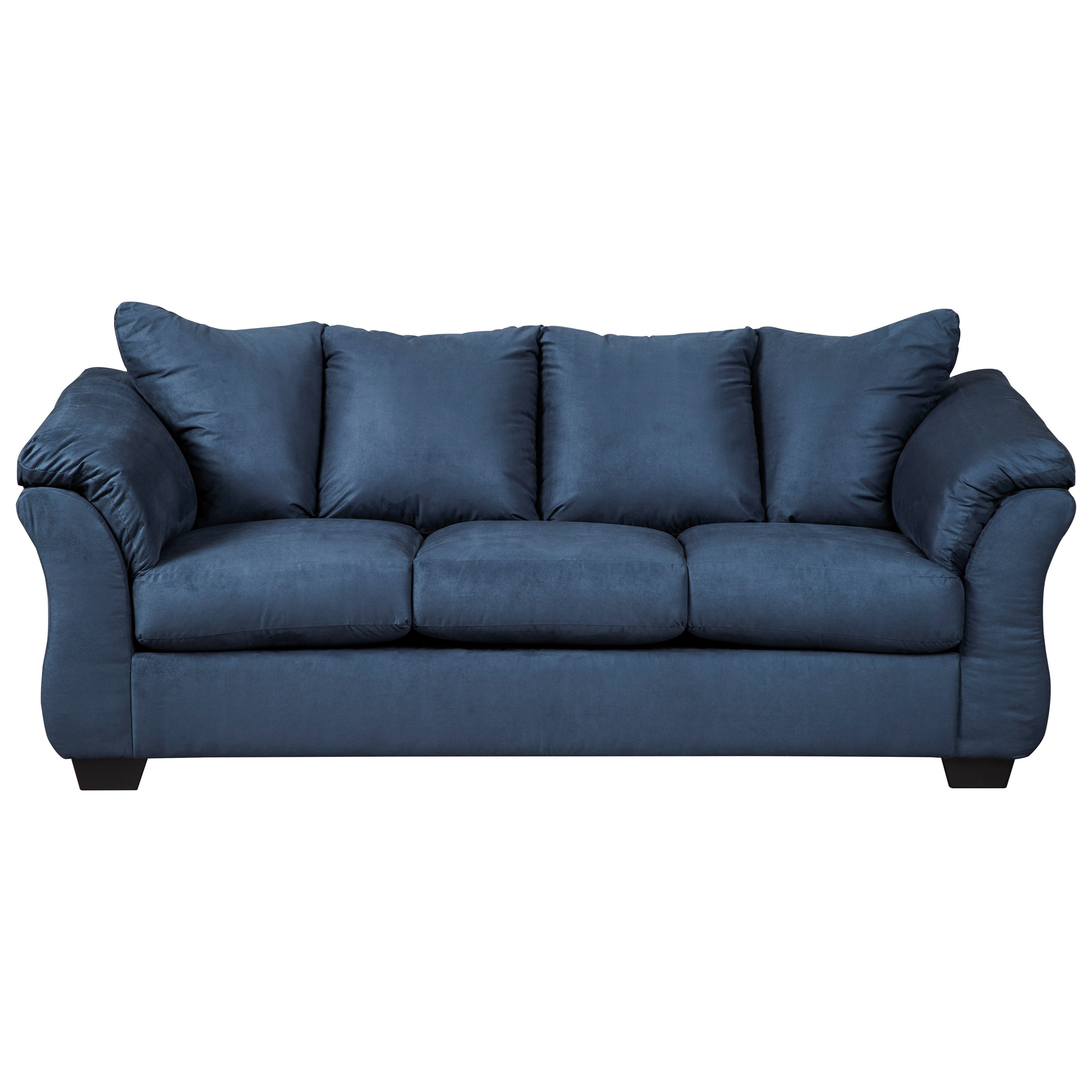 Darcy - Blue Stationary Sofa by Ashley at Morris Home