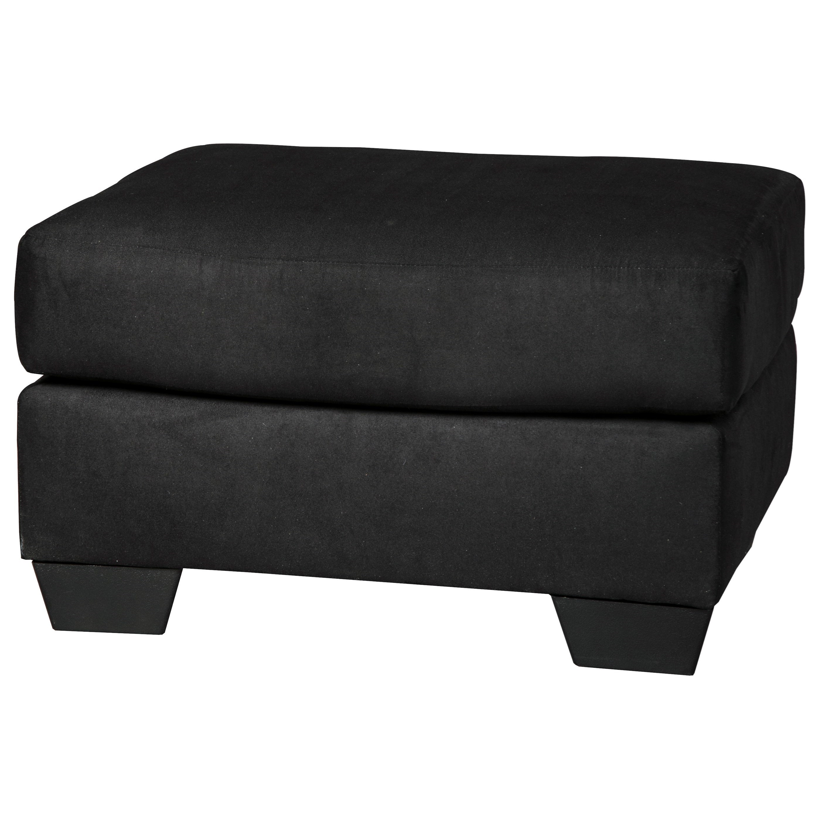 Darcy - Black Ottoman by Signature Design by Ashley at Suburban Furniture