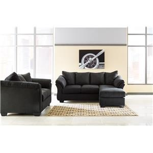 Chaise Sofa, Loveseat and Chair Set