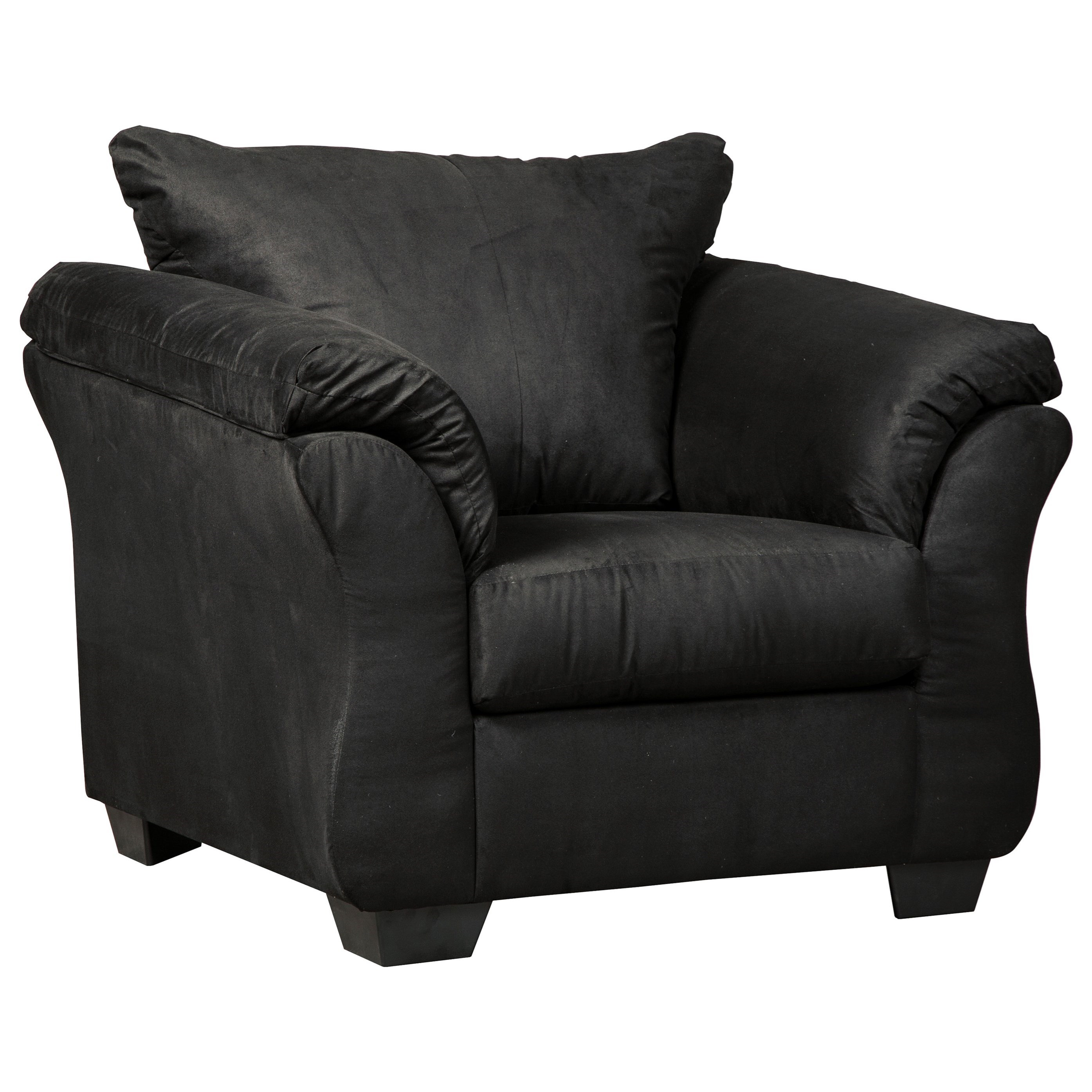 Darcy - Black Upholstered Chair by Ashley (Signature Design) at Johnny Janosik