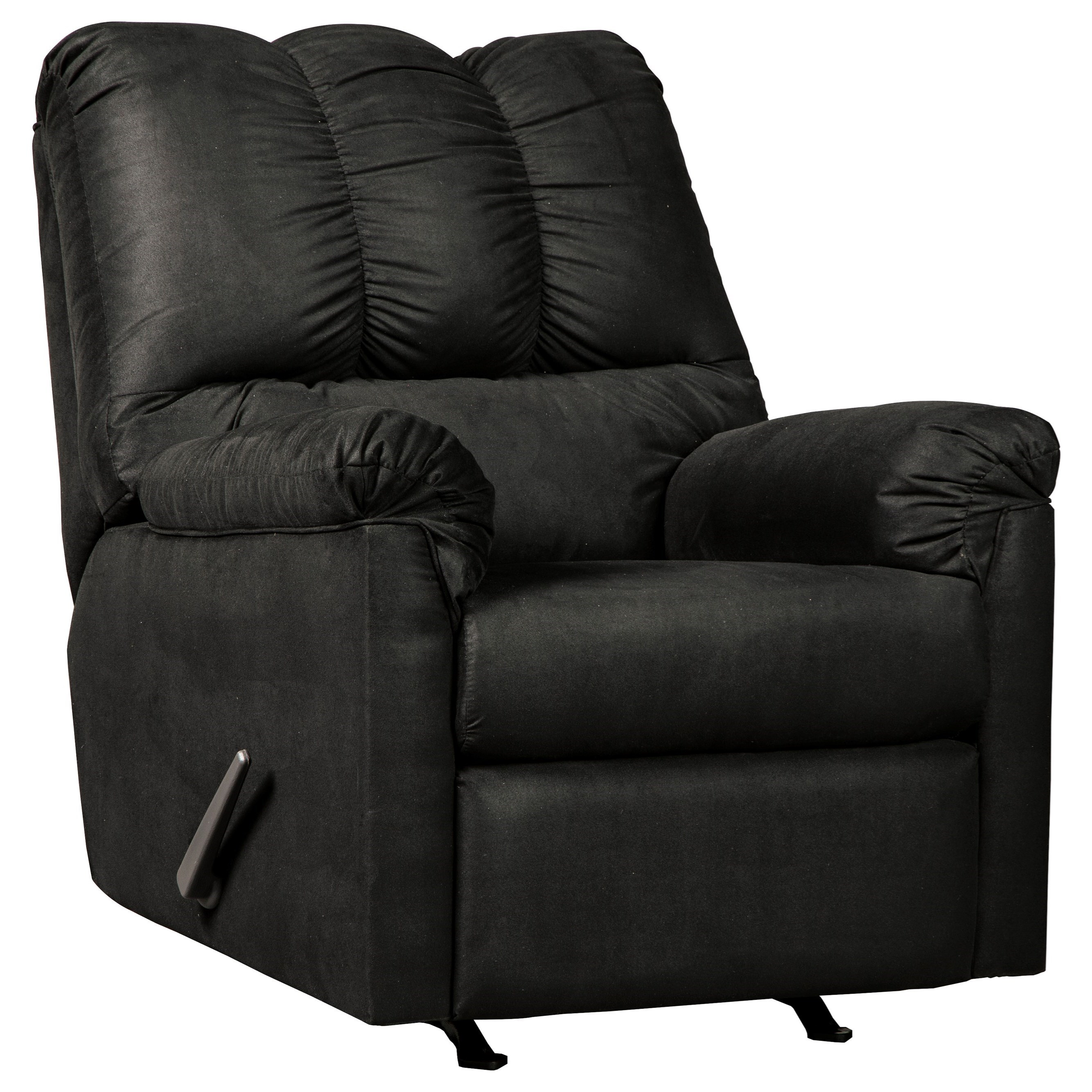 Darcy - Black Rocker Recliner by Signature Design by Ashley at Furniture Barn