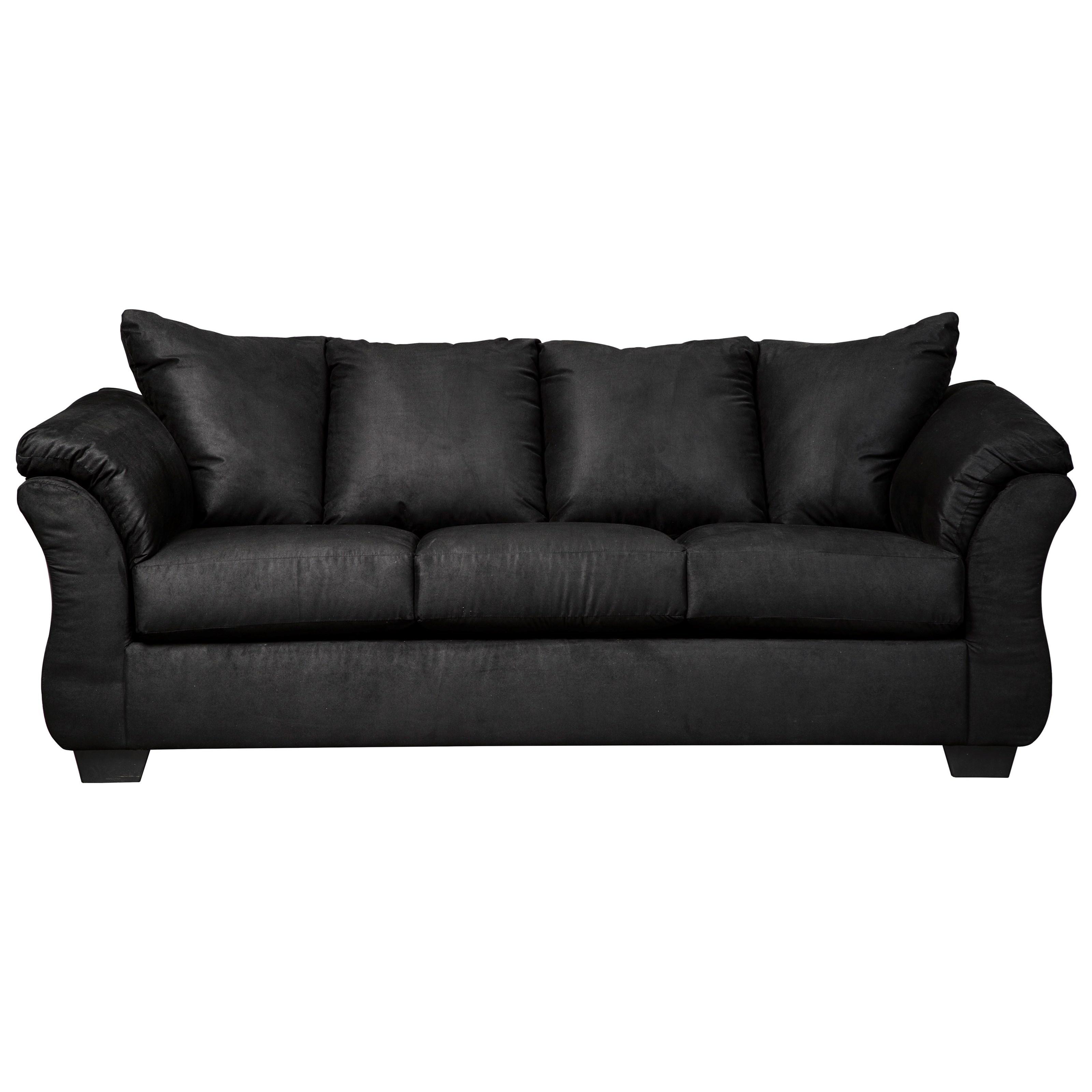Darcy - Black Stationary Sofa by Ashley (Signature Design) at Johnny Janosik