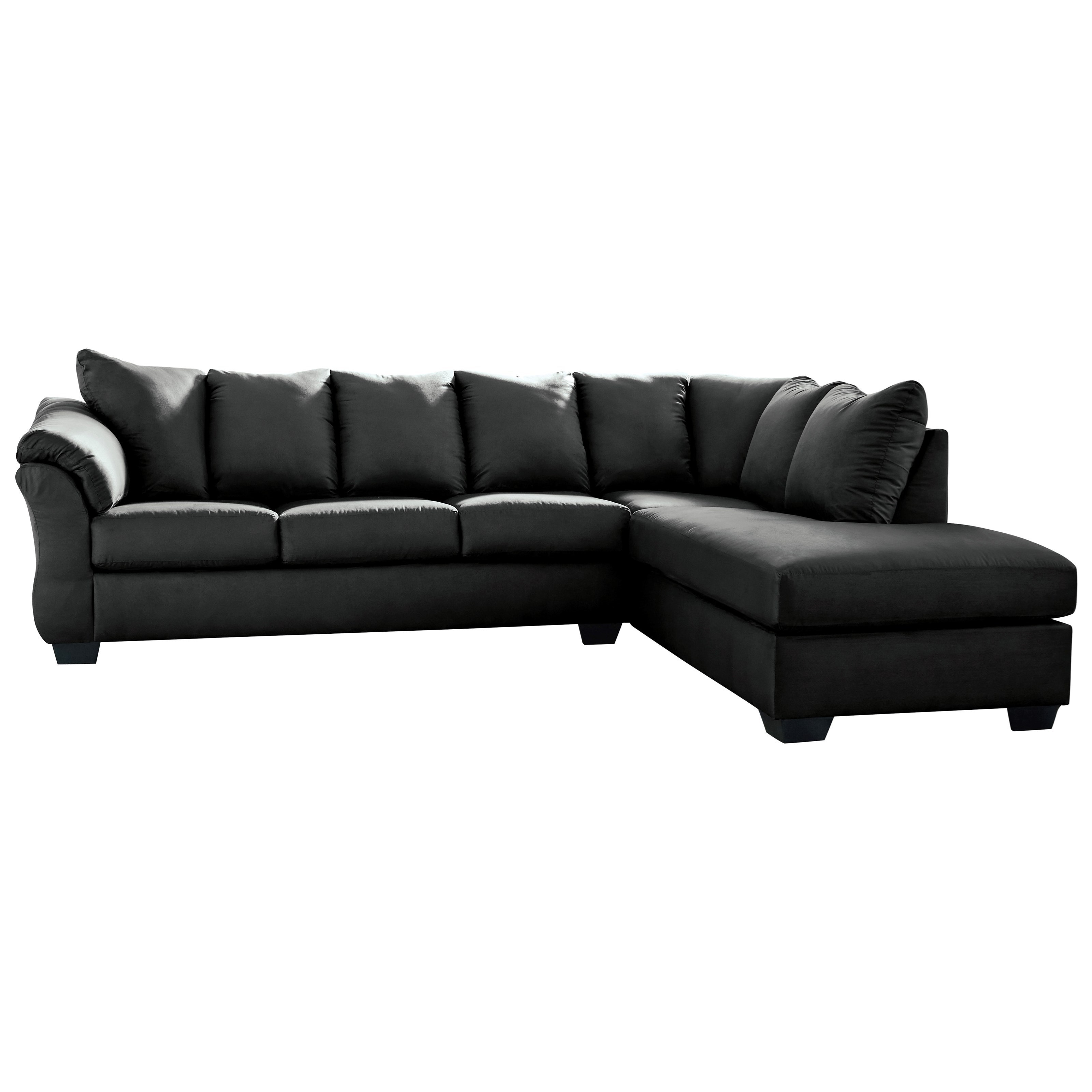 Darcy - Black 2-Piece Sectional Sofa by Signature Design by Ashley at Carolina Direct