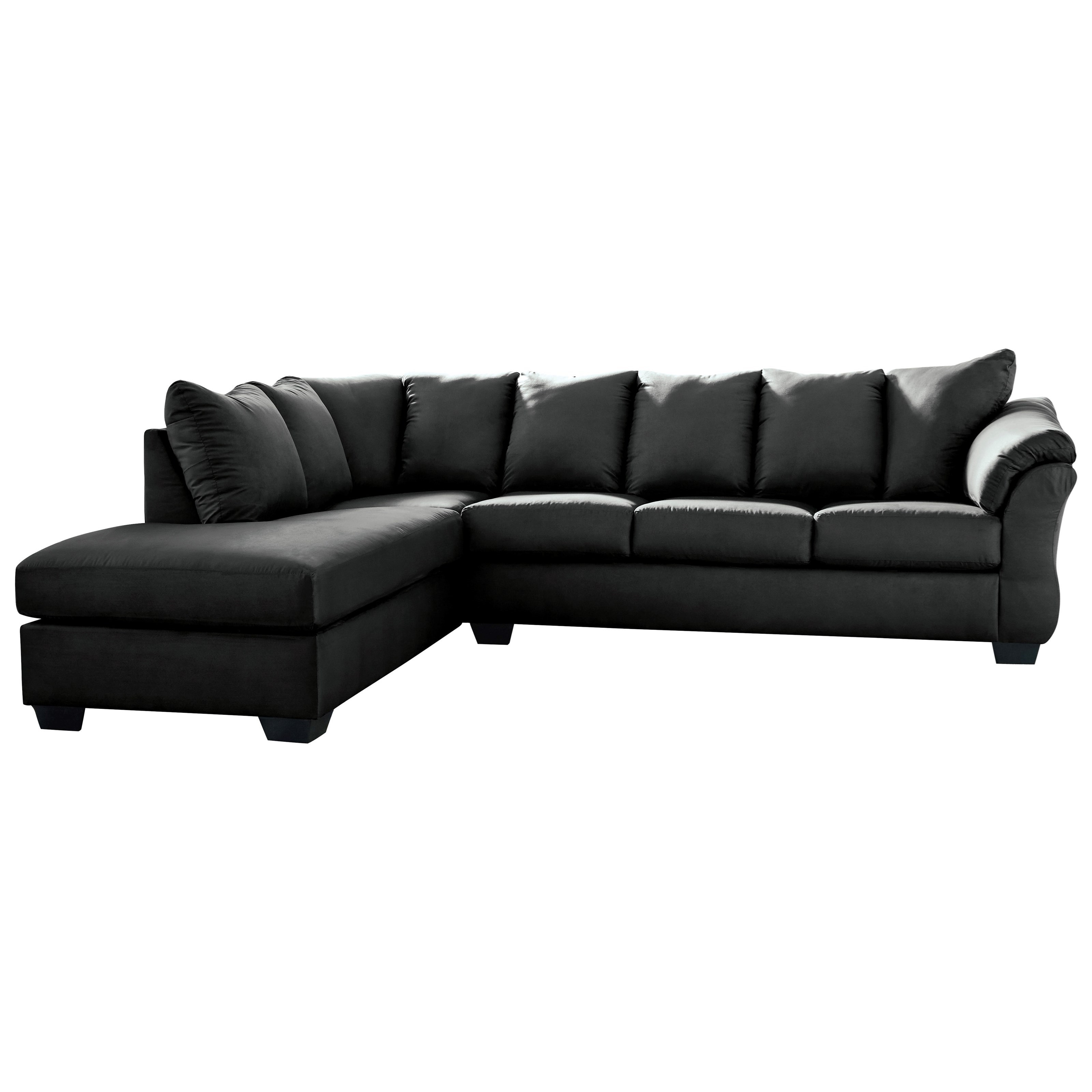 Darcy - Black 2-Piece Sectional Sofa with Chaise by Ashley (Signature Design) at Johnny Janosik