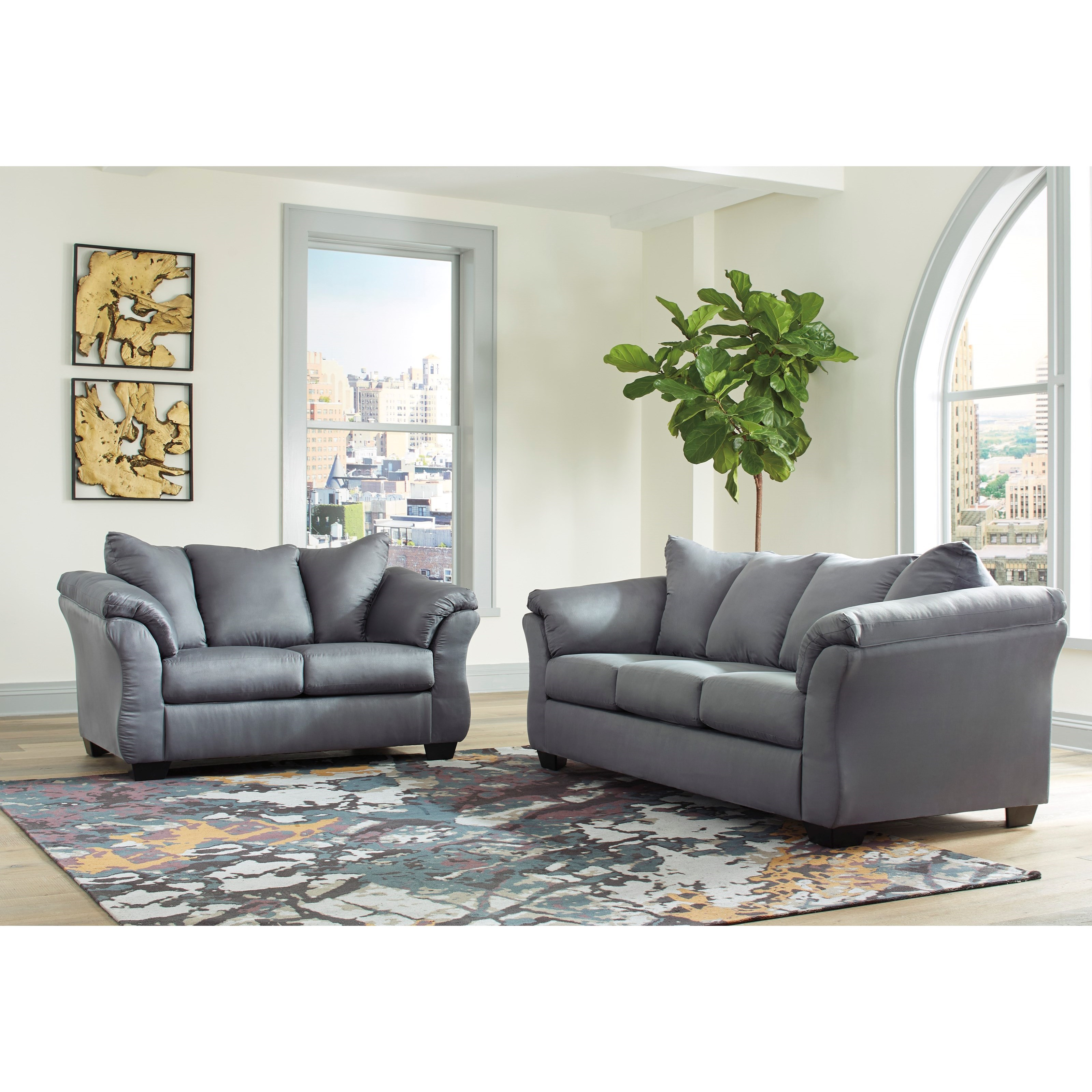 Darcy - Steel Stationary Living Room Group by Signature Design by Ashley at Furniture Barn