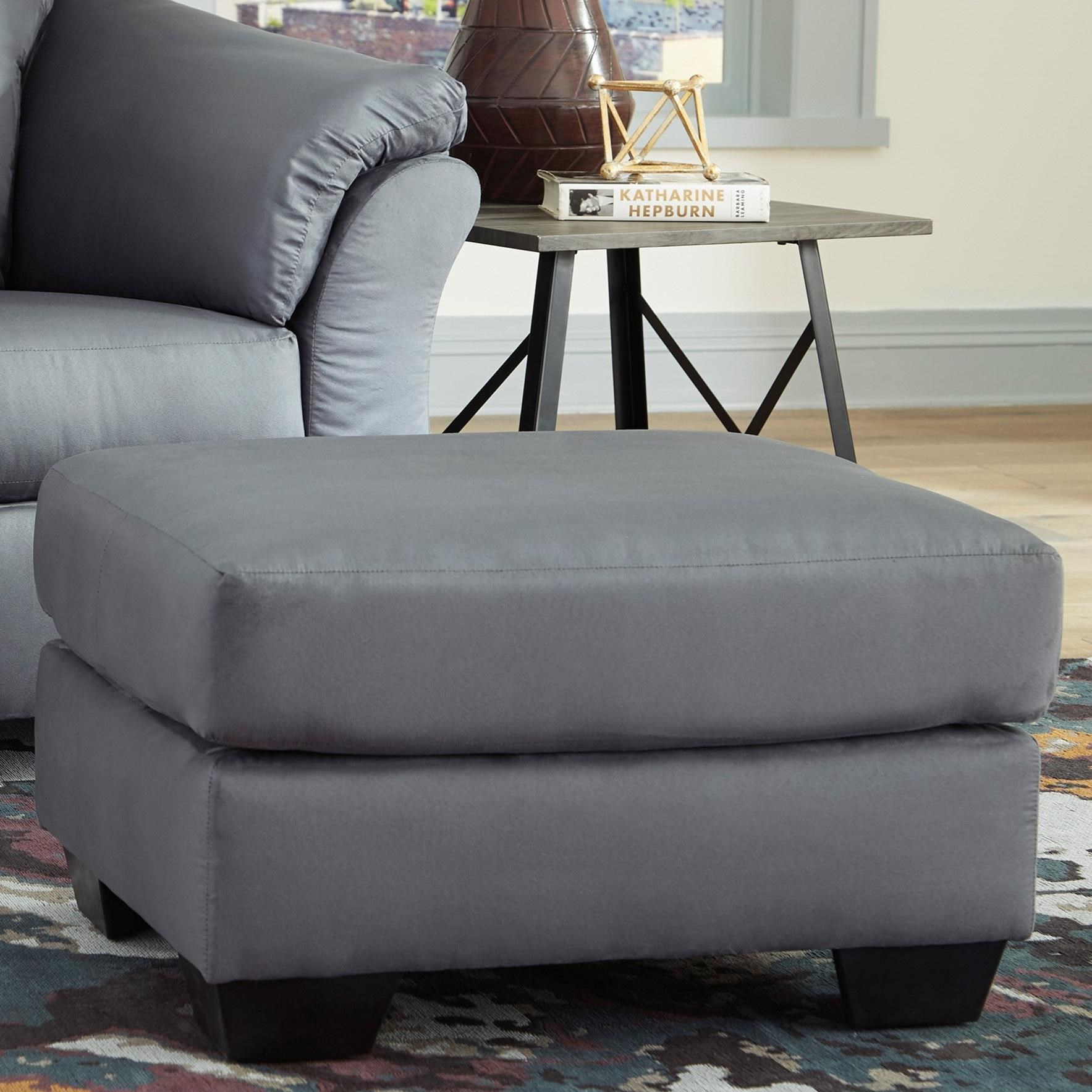 Darcy - Steel Ottoman by Ashley (Signature Design) at Johnny Janosik