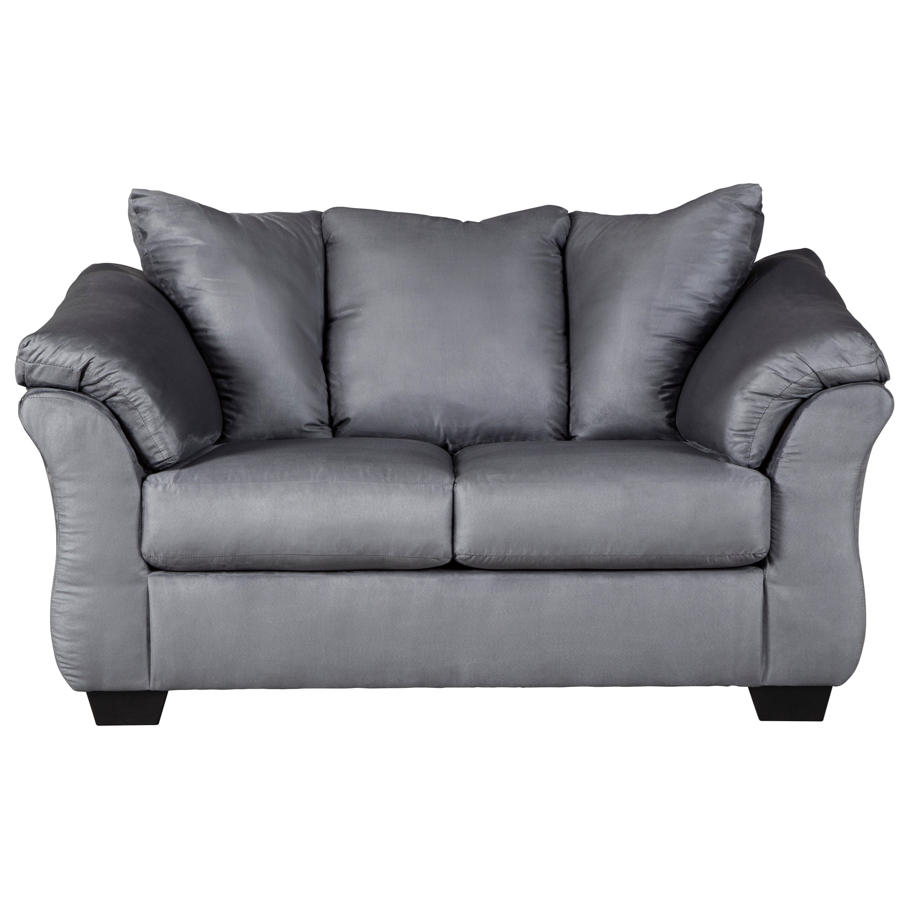 Darcy - Steel Stationary Loveseat by Ashley (Signature Design) at Johnny Janosik