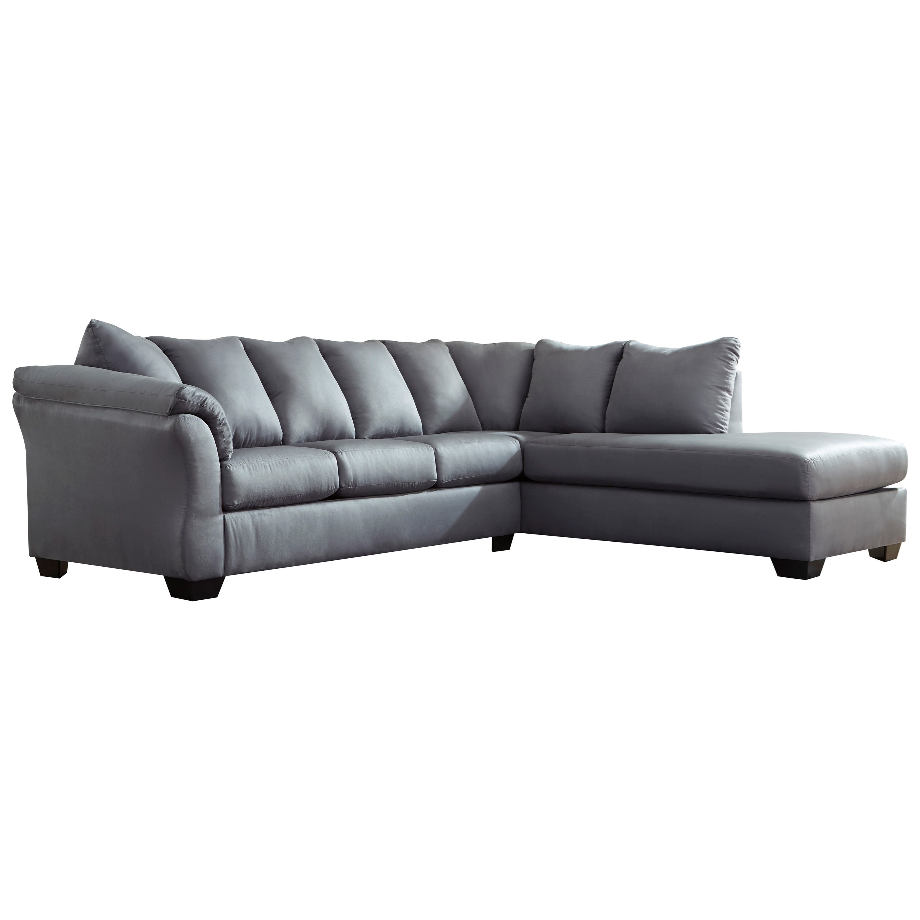 Darcy - Steel 2-Piece Sectional Sofa by Ashley (Signature Design) at Johnny Janosik