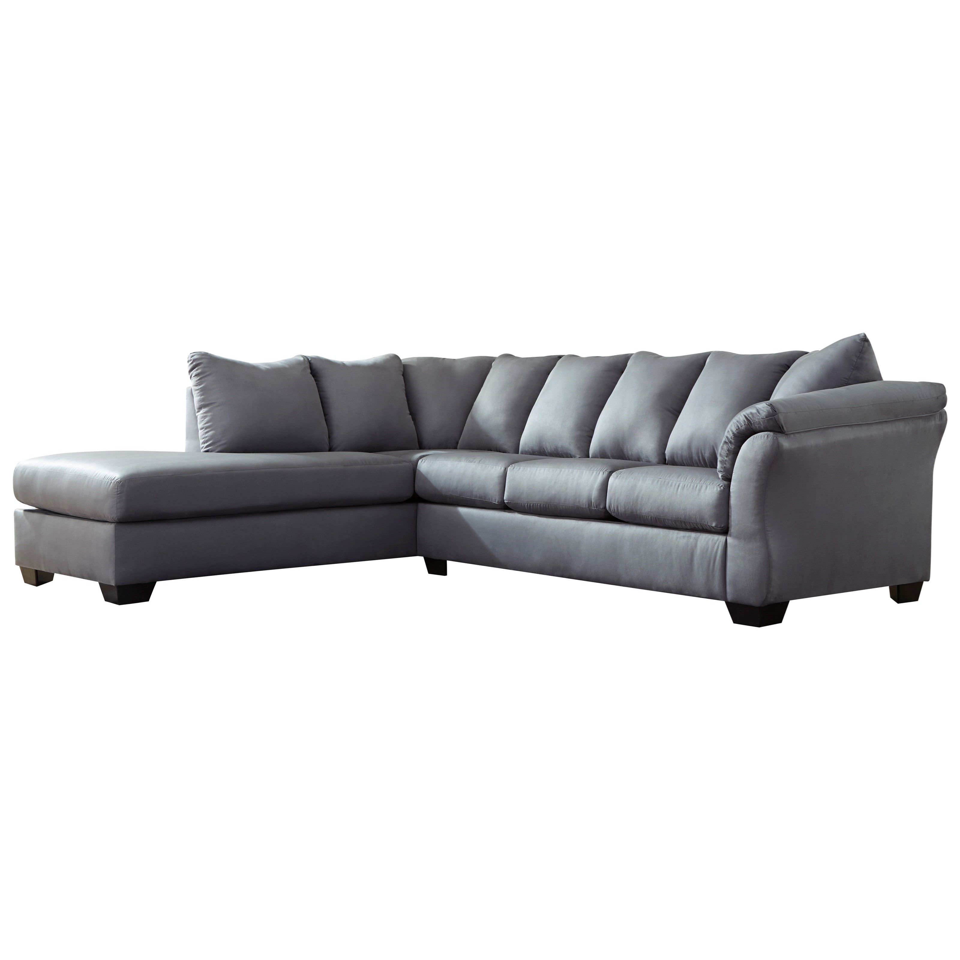 Darcy - Steel 2-Piece Sectional Sofa with Chaise by Ashley (Signature Design) at Johnny Janosik