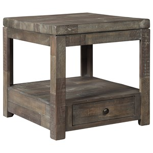 Industrial Rectangular End Table
