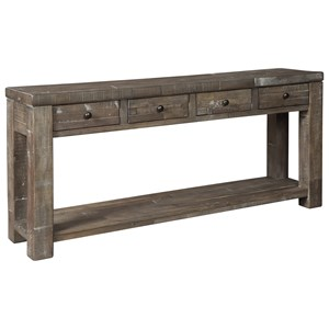 Industrial Console Table with Four Drawers