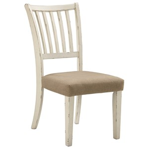 Dining Side Chair with Slat Backrest