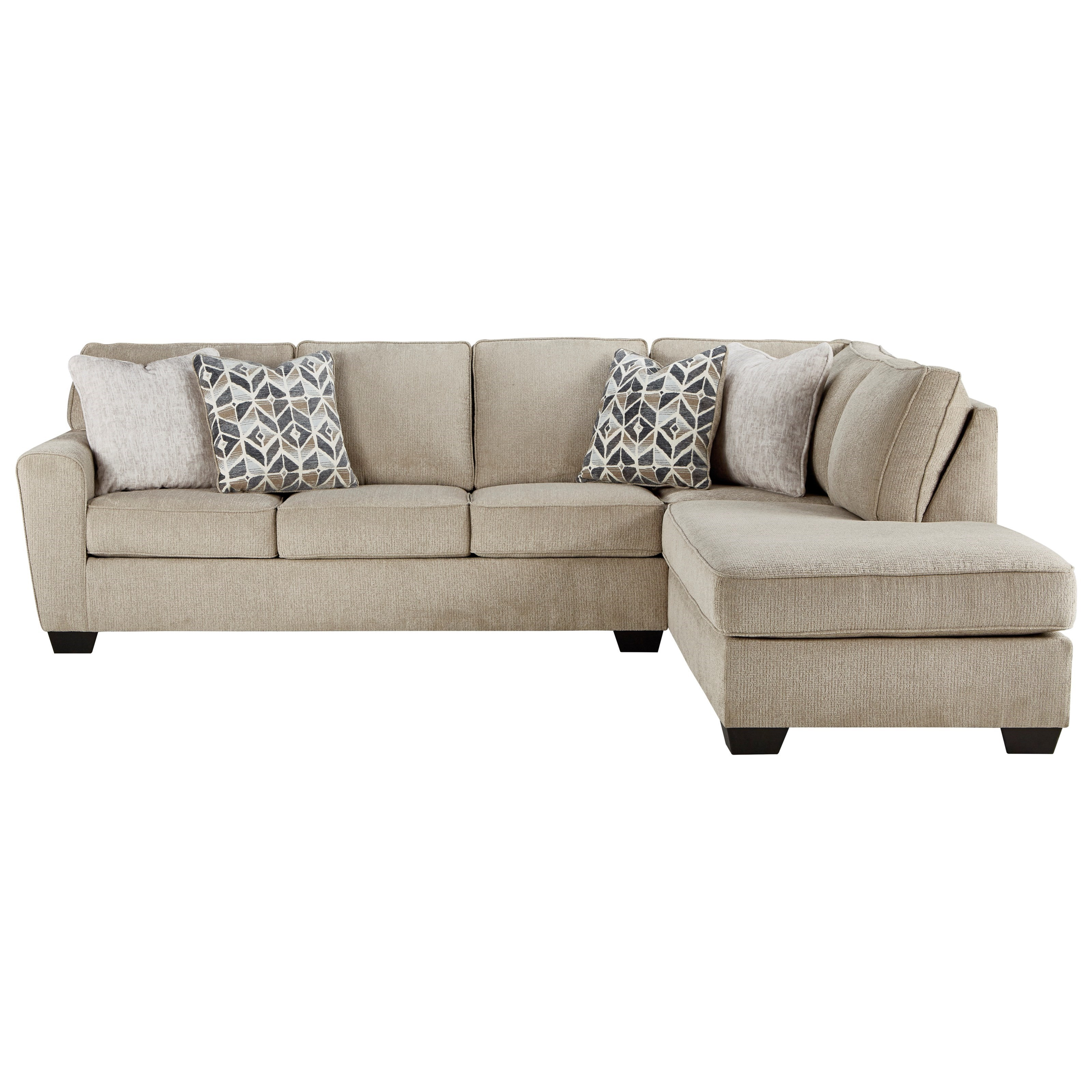 Decelle 2-Piece Sectional with Chaise by Signature at Walker's Furniture