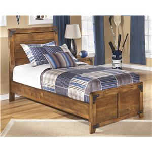 Twin Panel Bed in Rustic Pine