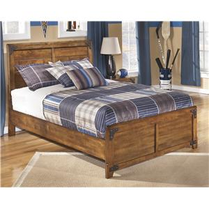Full Panel Bed in Rustic Pine