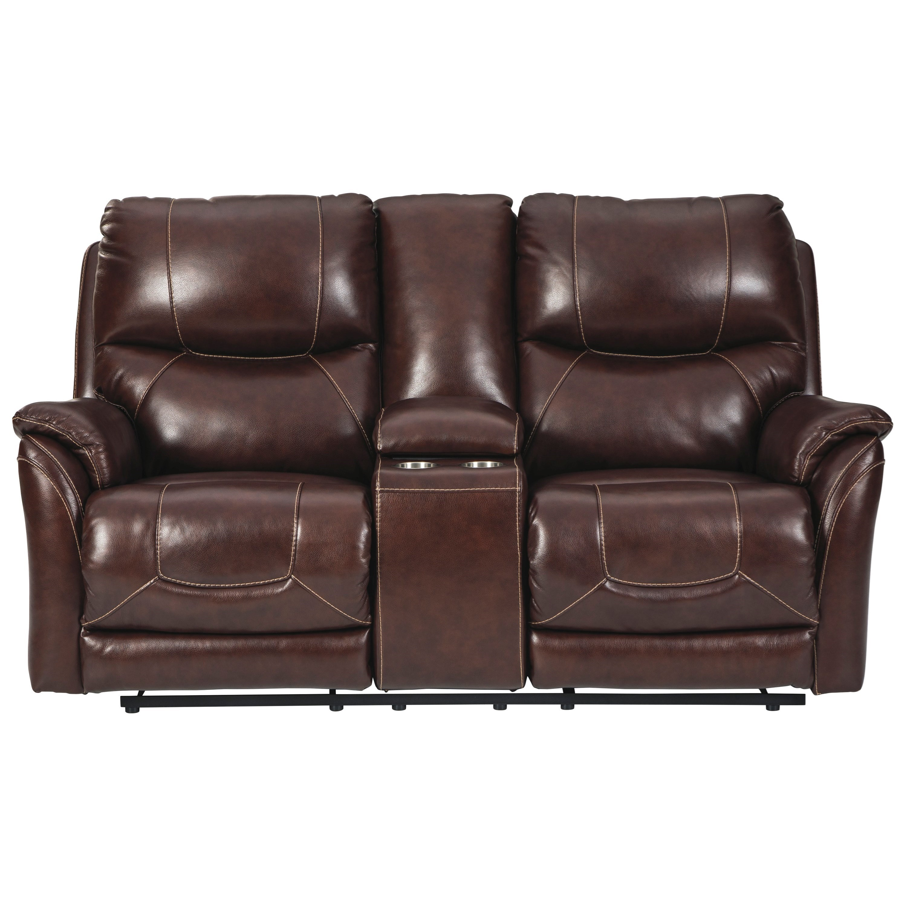 Dellington Power Reclining Loveseat with Console by Ashley (Signature Design) at Johnny Janosik