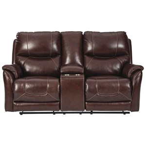 Power Reclining Loveseat with Console and Power Headrests