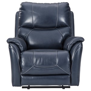 Power Recliner with Adjustable Headrest and Built-In USB Port
