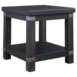 Rectangular End Table with 2 Outlets & USB Charging