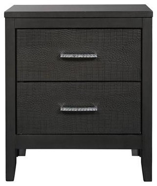 Delmont Delmont Two Drawer Nightstand by Ashley at Morris Home