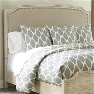 King/Cal King Upholstered Panel Headboard with Nailhead Trim