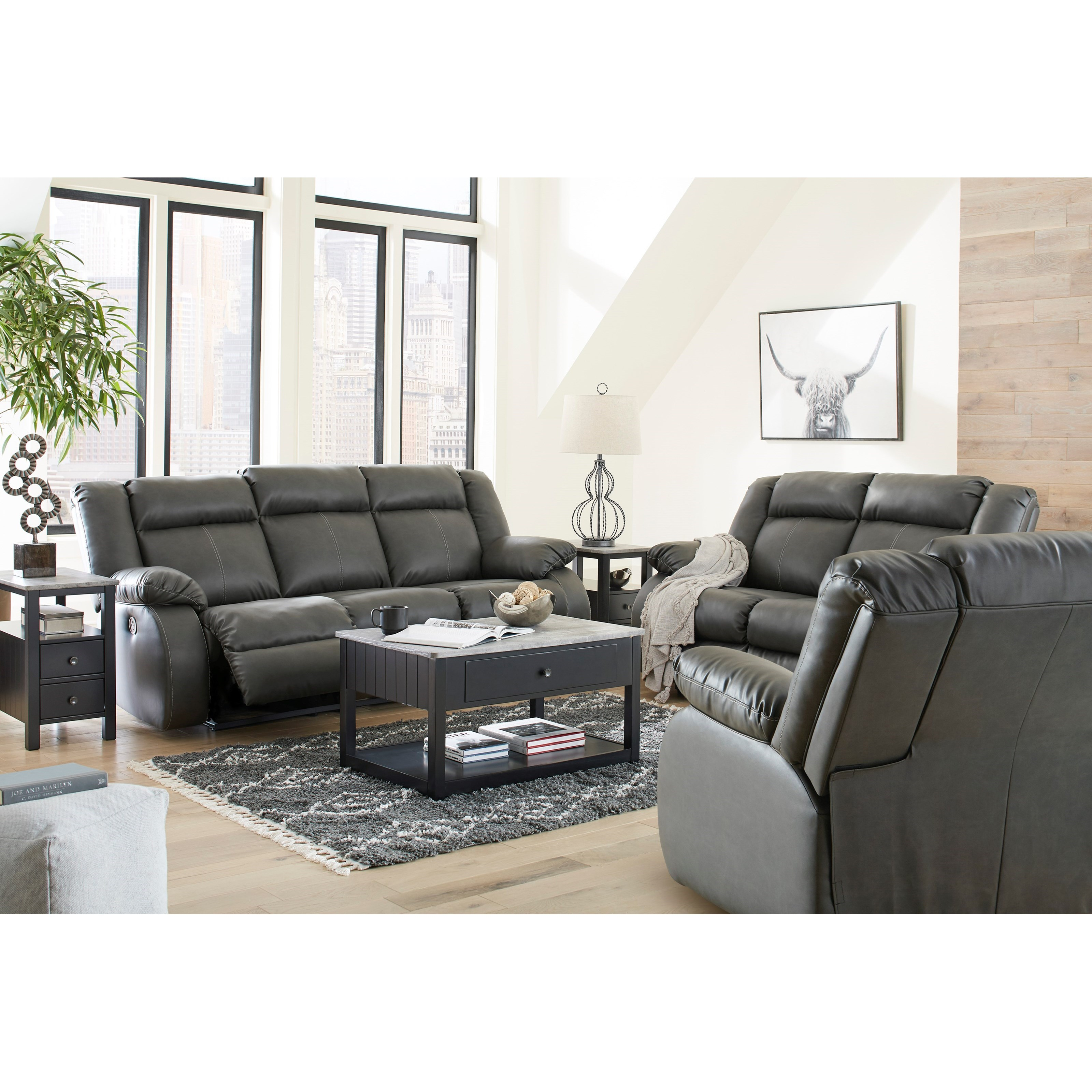 Denoron Sofa, Loveseat and Recliner by Ashley (Signature Design) at Johnny Janosik