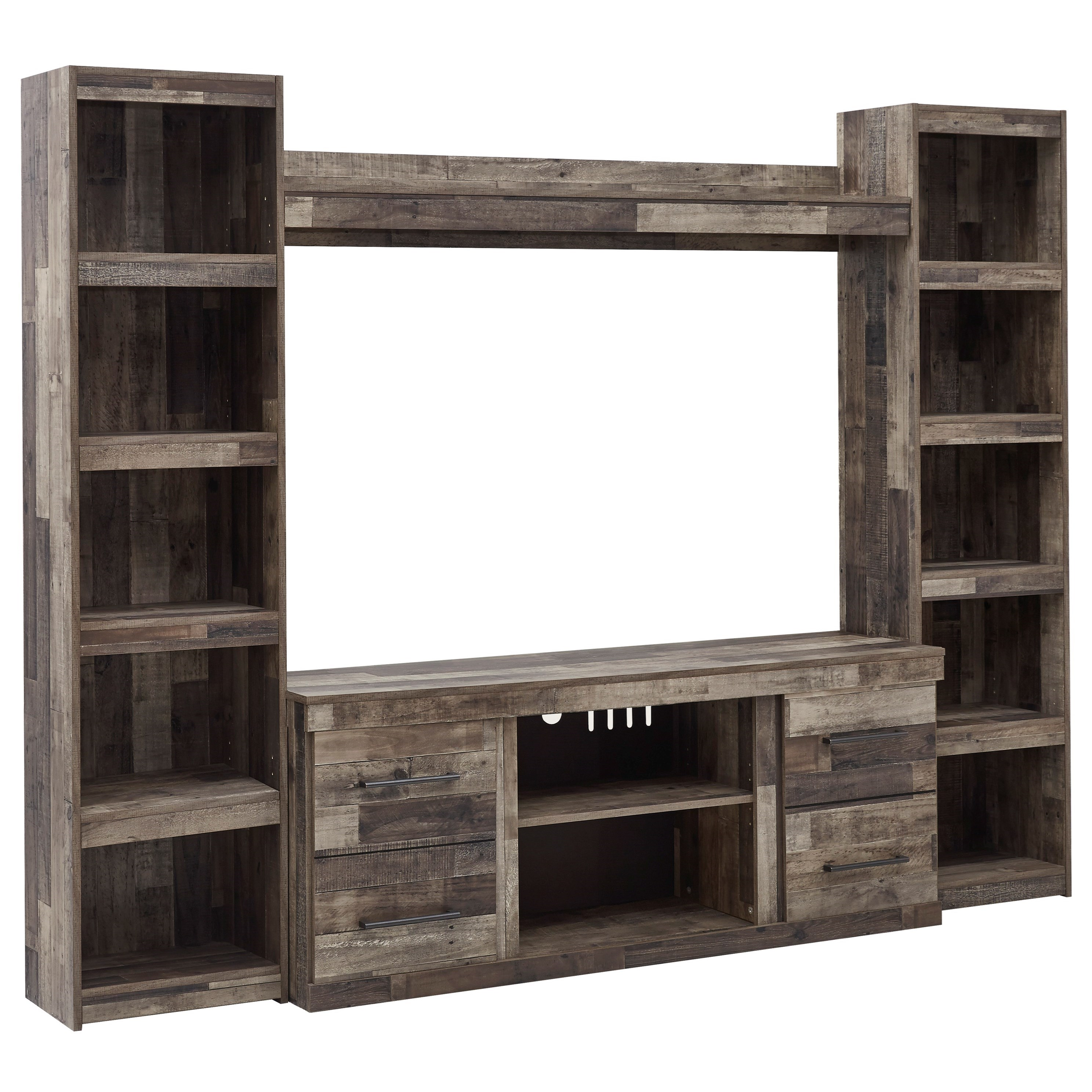 Derekson Entertainment Wall Unit by Signature Design by Ashley at Smart Buy Furniture