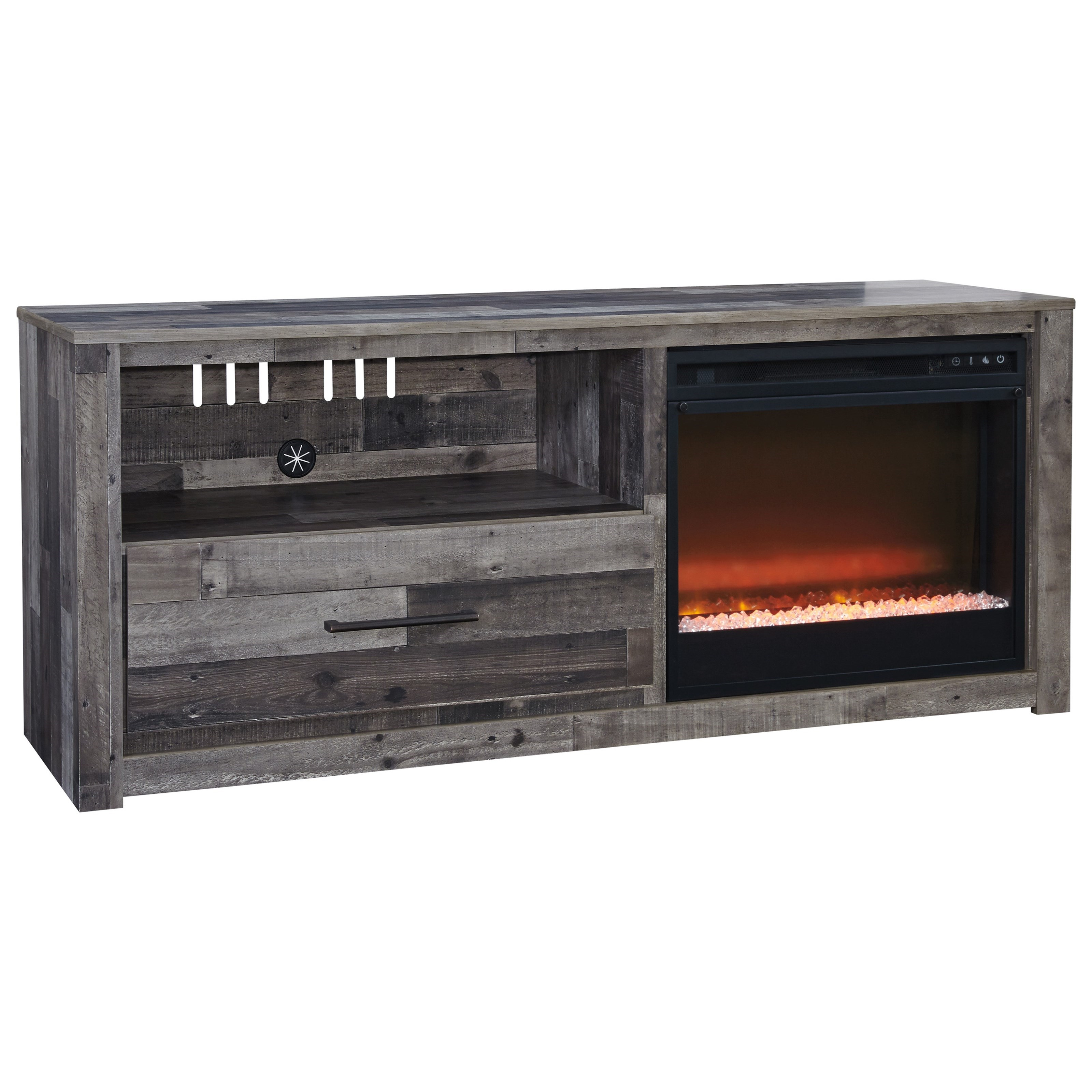 Derekson TV Stand with LED Fireplace by Signature Design by Ashley at Northeast Factory Direct