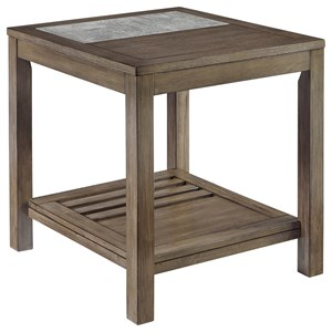 Casual Rectangular End Table