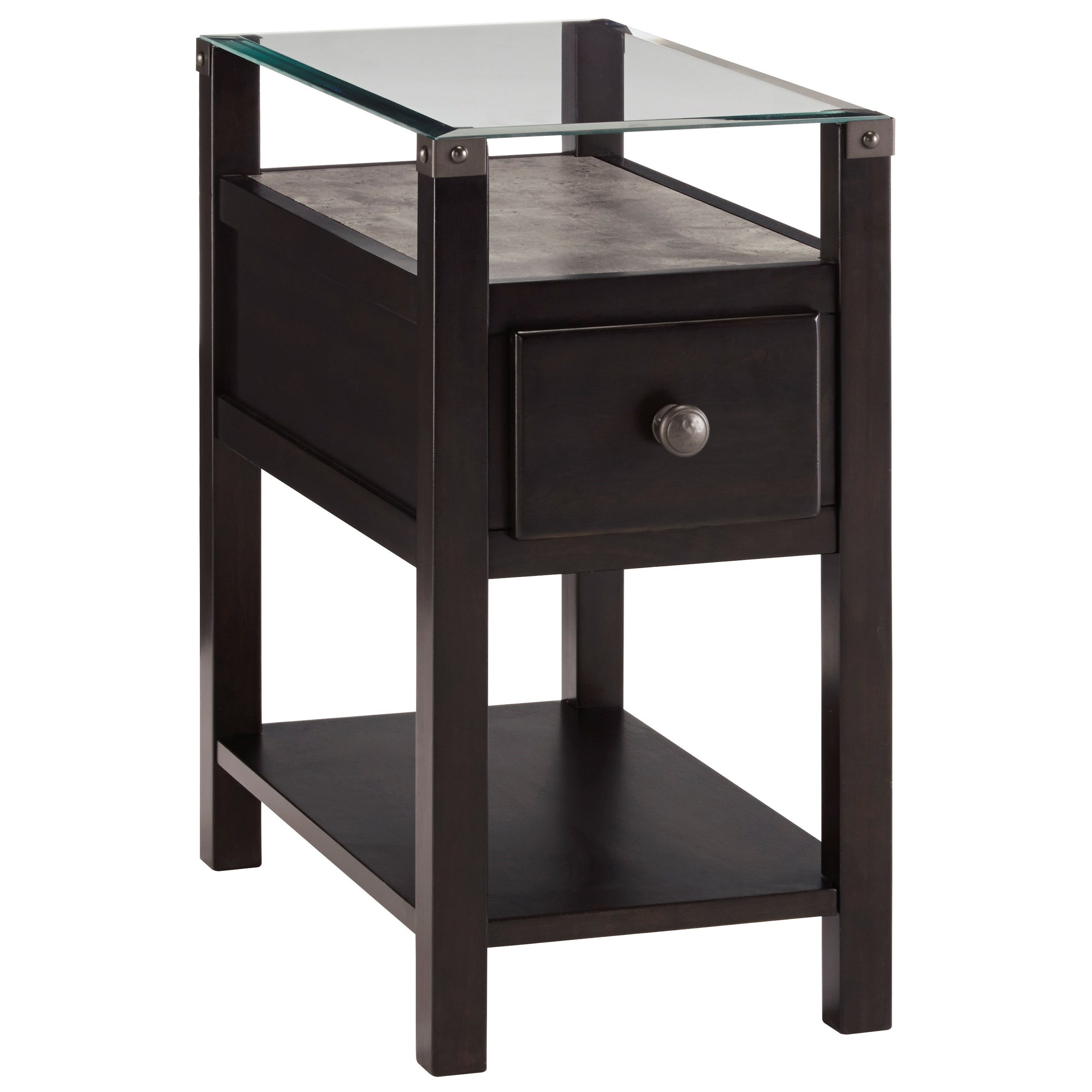 Diamenton Chair Side End Table by Signature Design by Ashley at Beck's Furniture