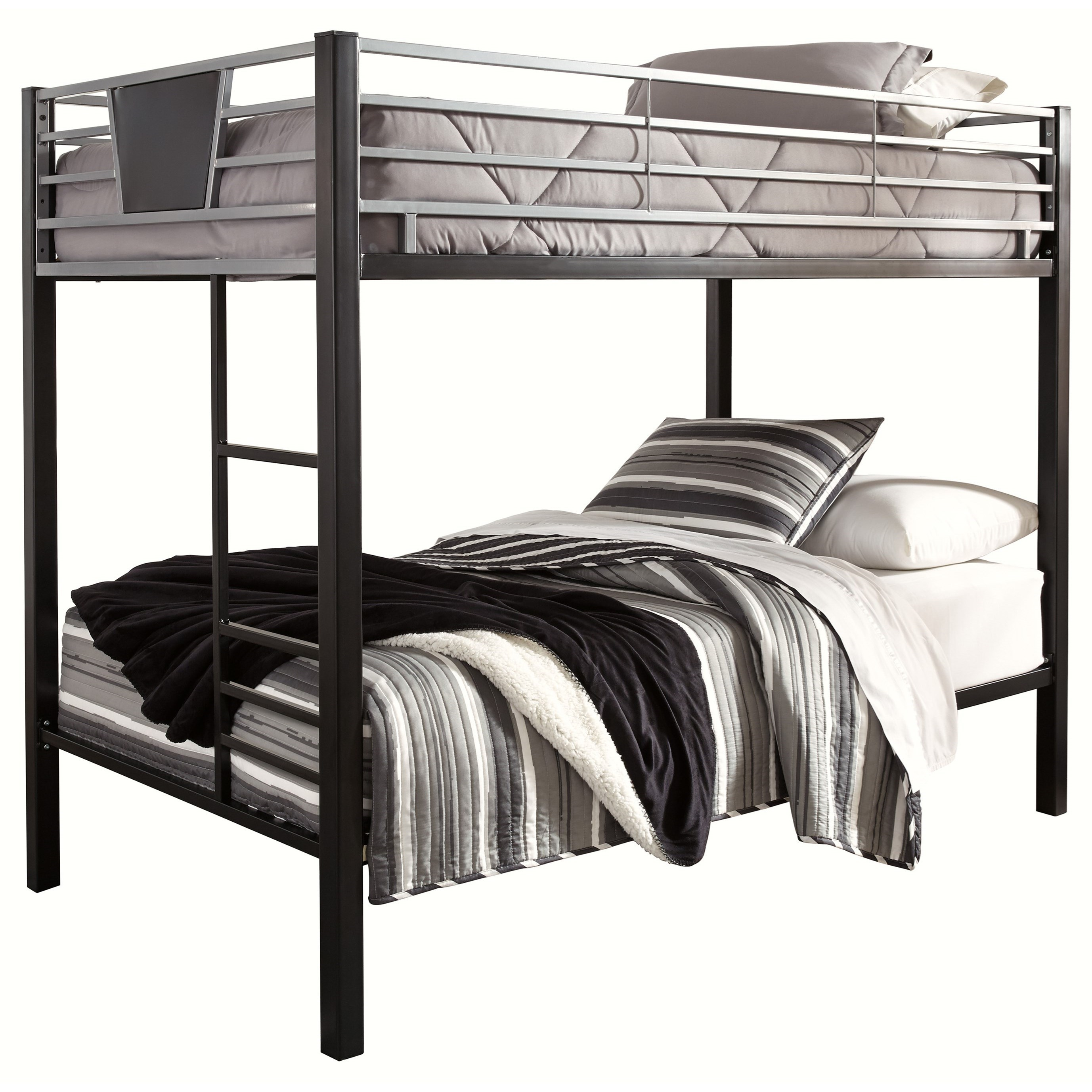 Dinsmore Twin/Twin Bunk Bed w/ Ladder by Signature Design by Ashley at Miller Waldrop Furniture and Decor