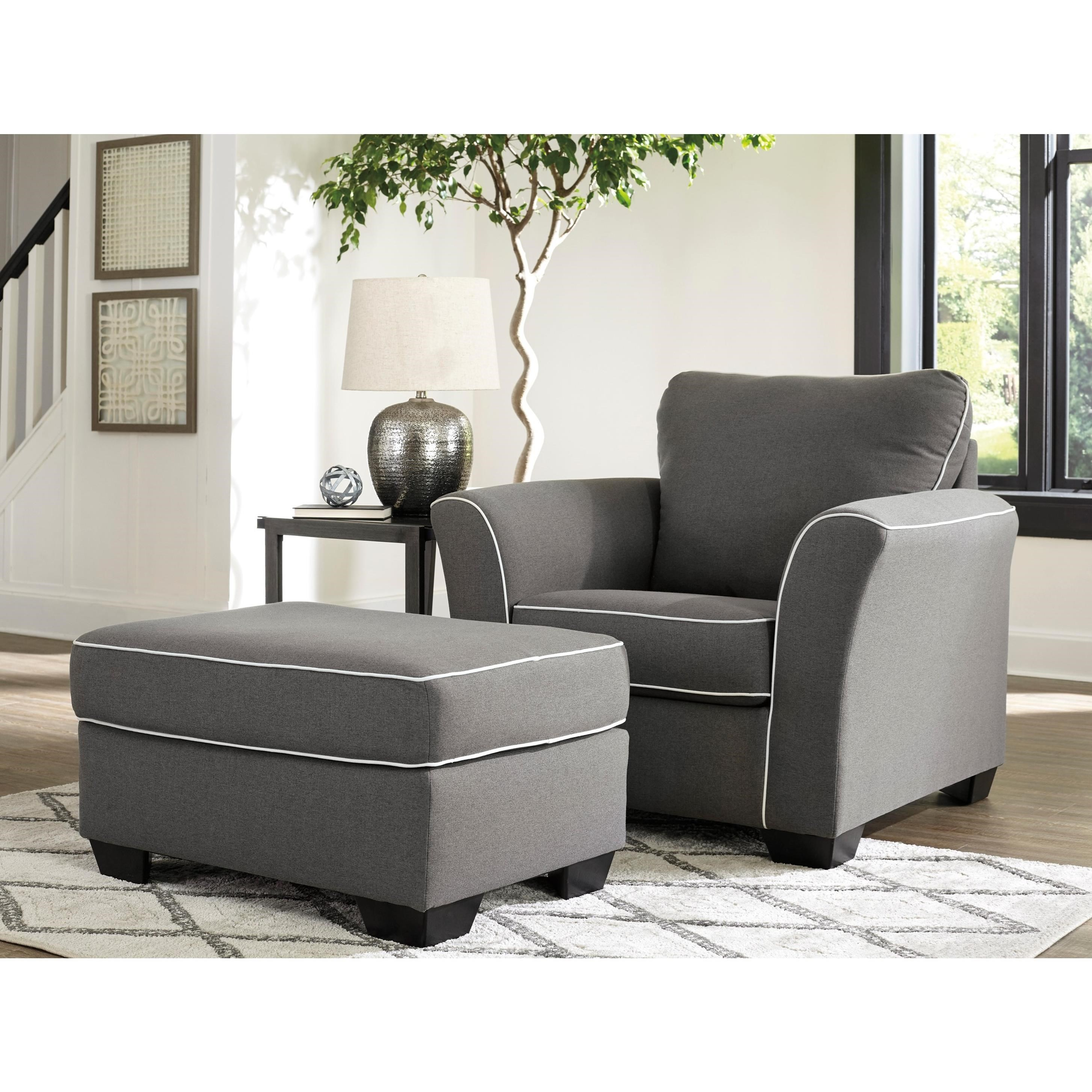 Domani Chair and Ottoman by Signature at Walker's Furniture
