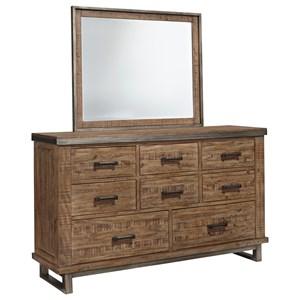 Signature Design by Ashley Dondie Dresser & Bedroom Mirror