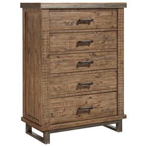 Signature Design by Ashley Dondie Five Drawer Chest