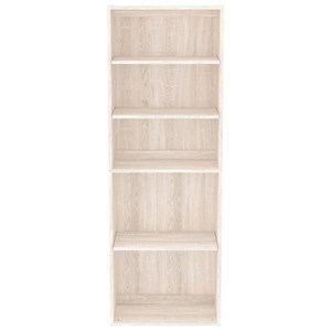 5-Shelf Bookcase with Adjustable Shelves