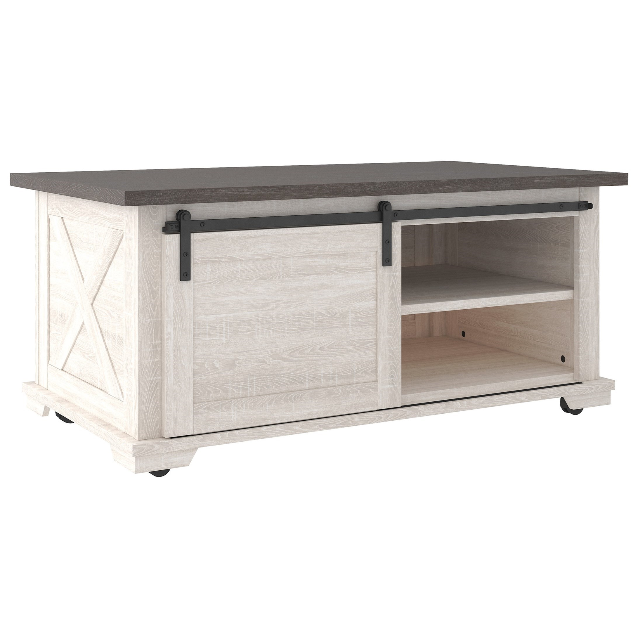 Dorrinson Rectangular Cocktail Table by Signature Design by Ashley at Miller Waldrop Furniture and Decor