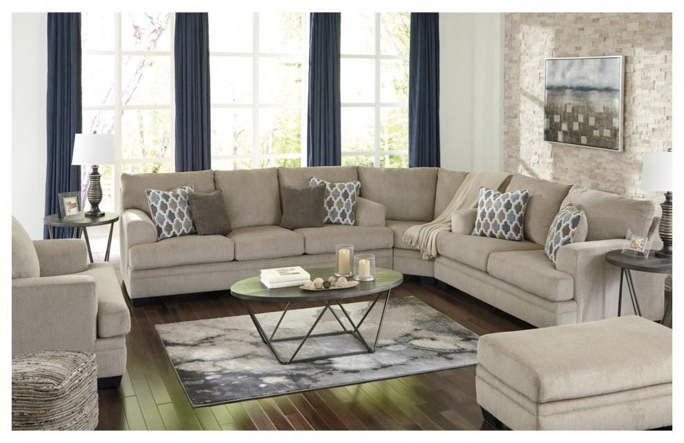 Dorsten 3 PC Sectional and Chair Set by Signature Design by Ashley at Sam Levitz Furniture