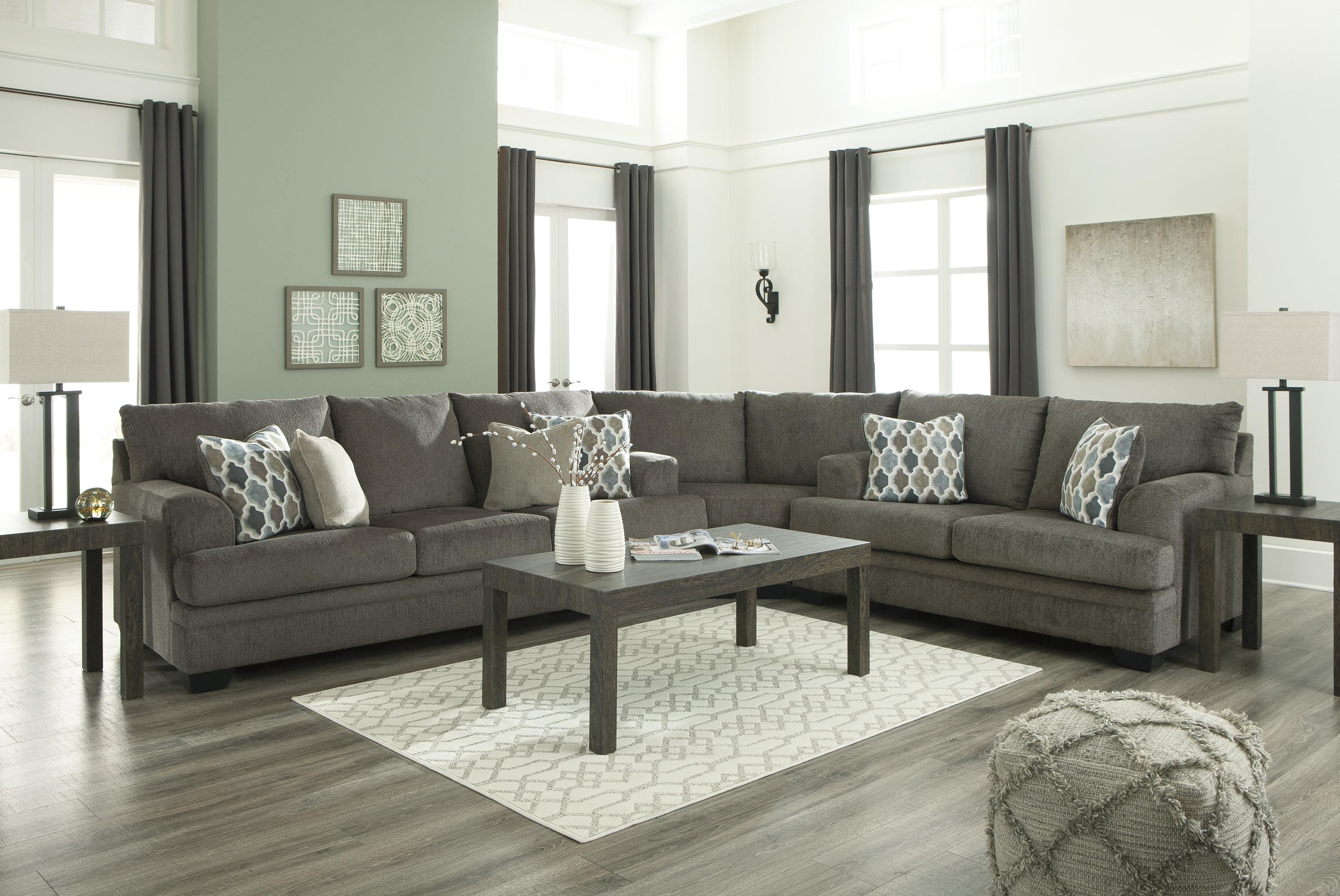Dorsten 3 PC Sectional and Recliner Set by Signature Design by Ashley at Sam Levitz Furniture