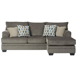 Contemporary Sofa with Reversible Chaise