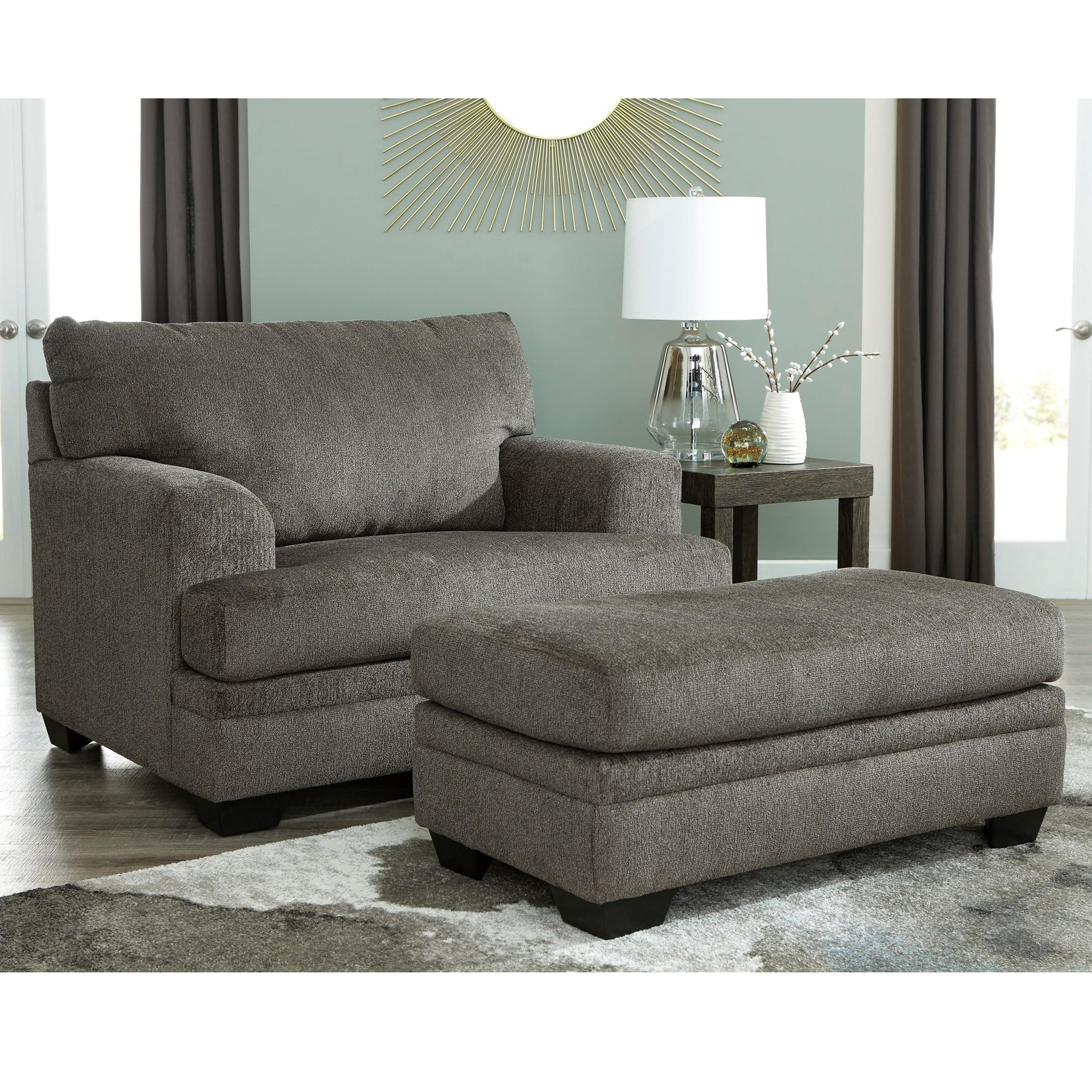 Drew Chair and a Half with Ottoman by Signature at Walker's Furniture