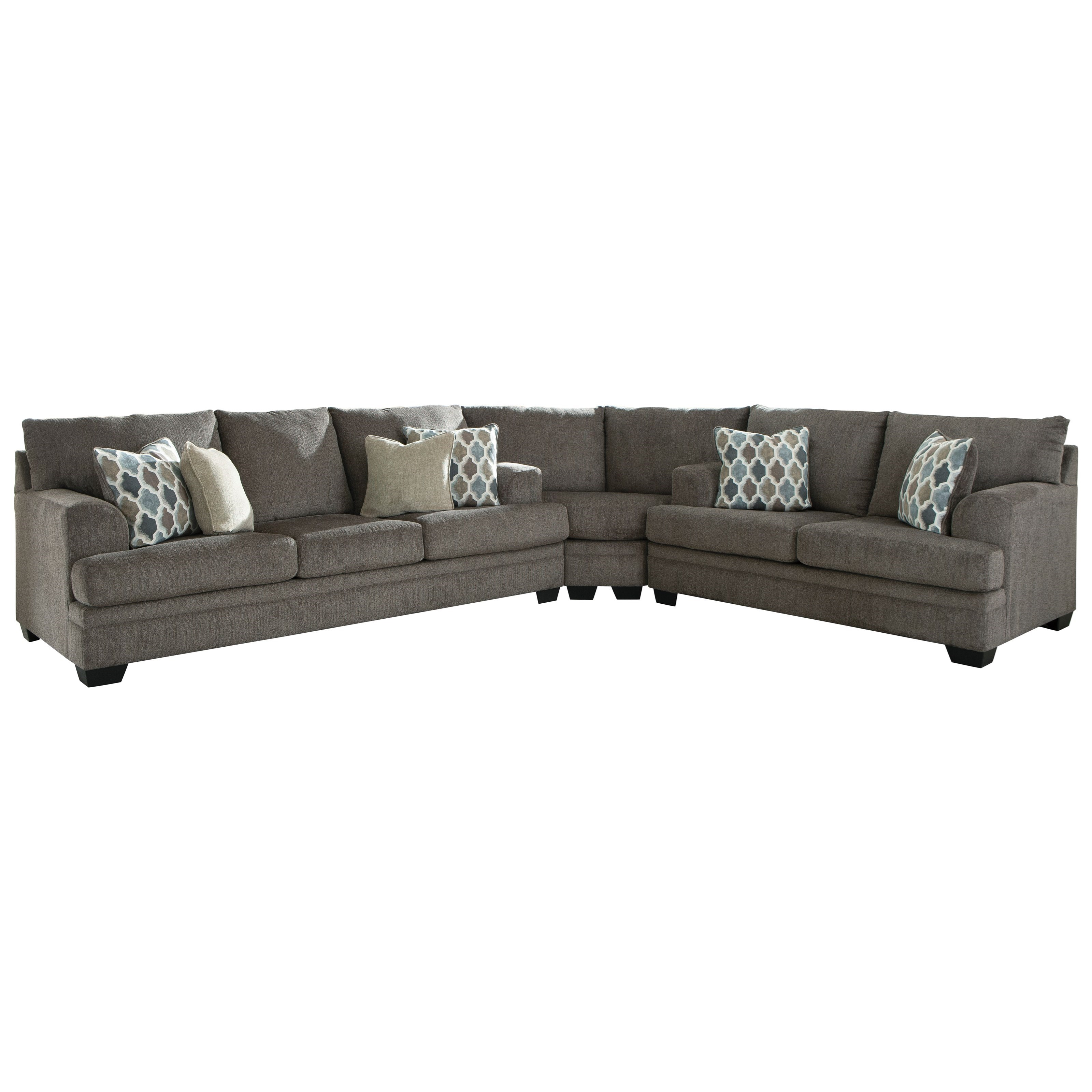 Drew 3-Piece Sectional by Signature at Walker's Furniture